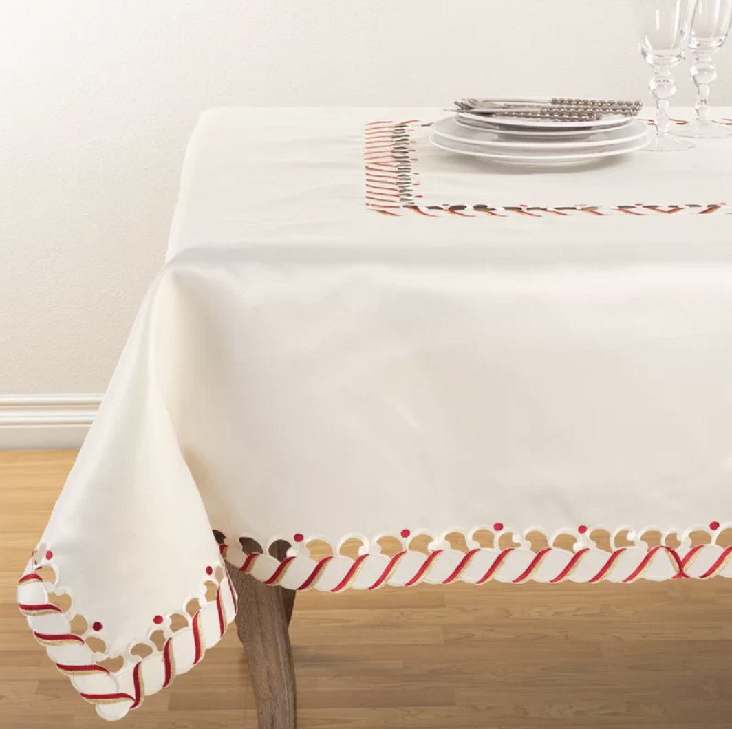 Candy Cane Tablecloth