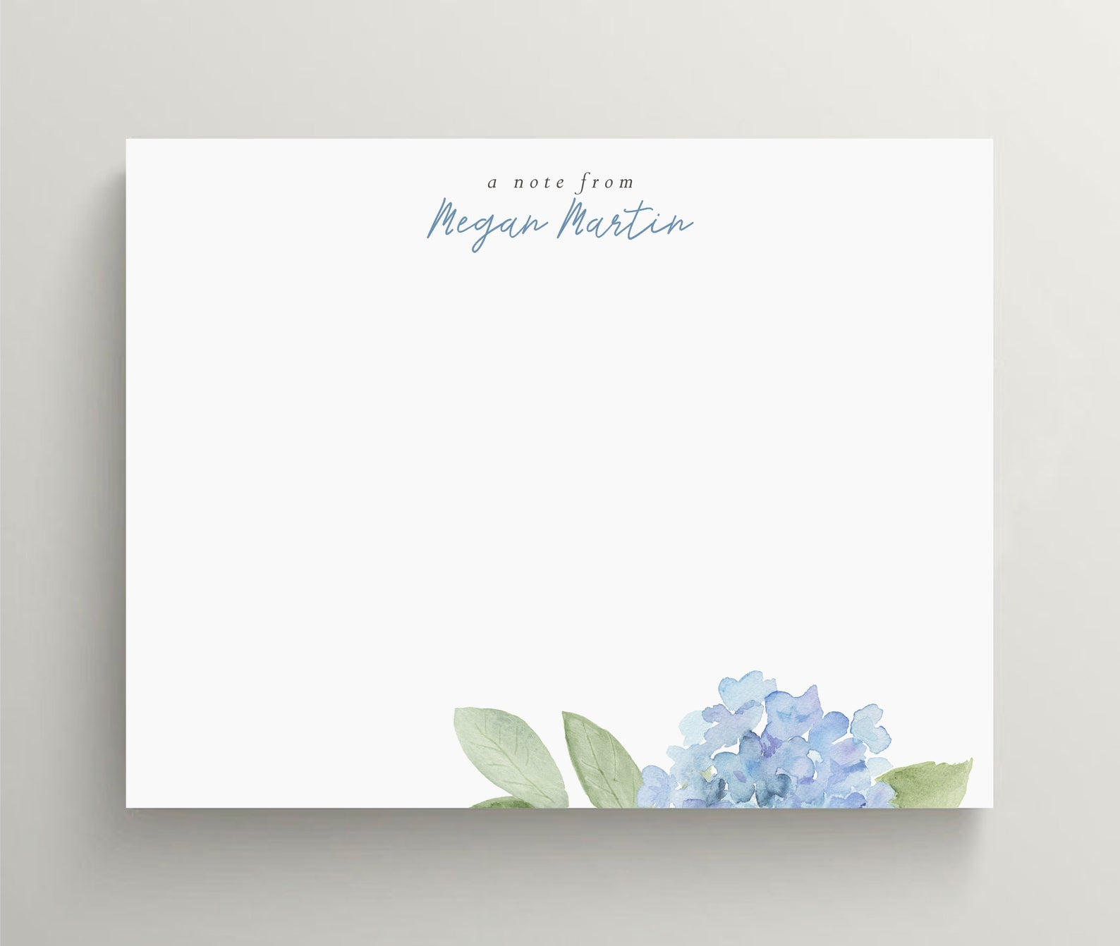Floral Hydrangea Stationery