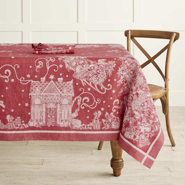 'Twas the Night Before Christmas Jacquard Tablecloth