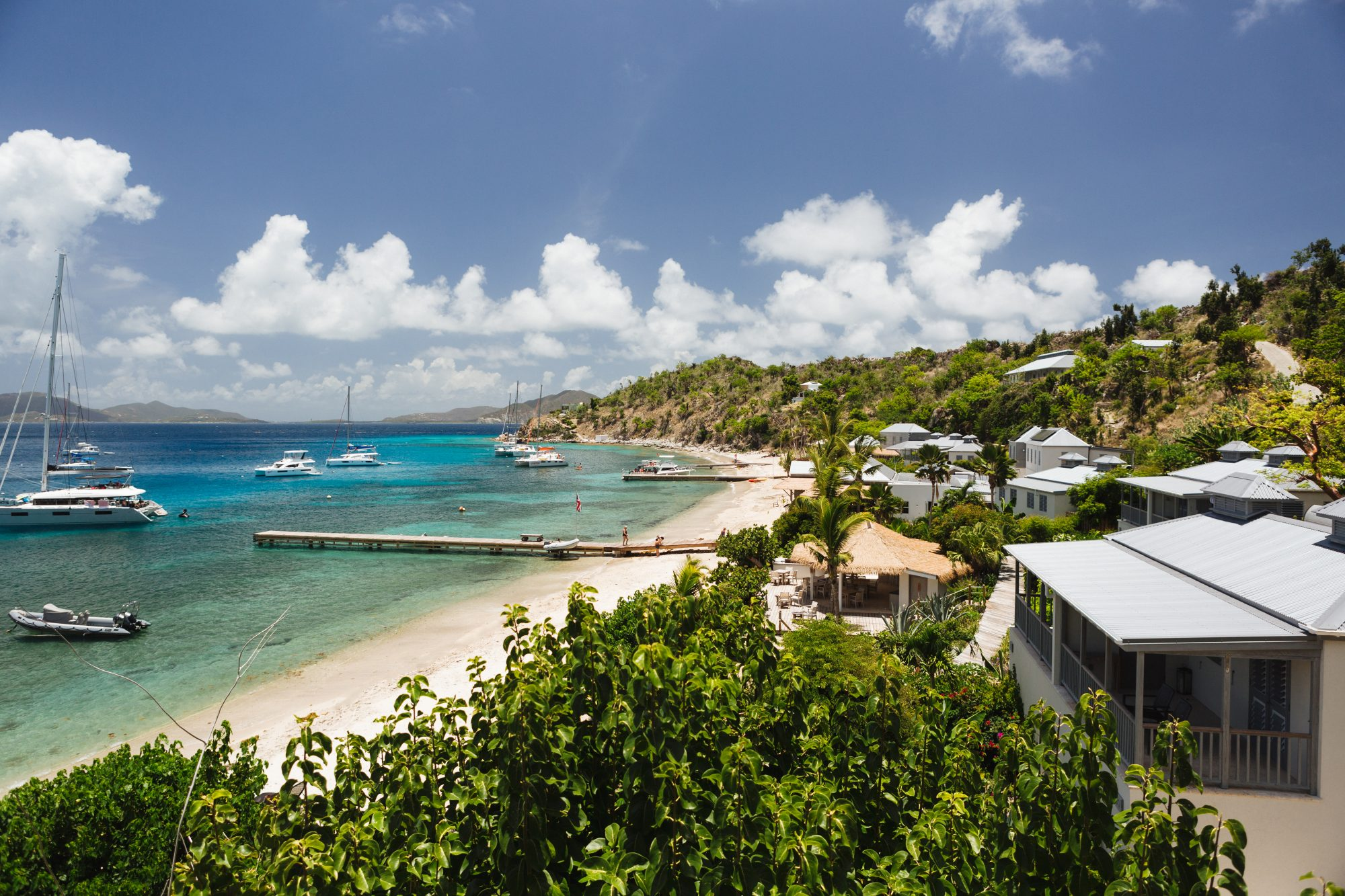 If the boating life is your cup of tea, this stylishly laid-back port in the British Virgin Islands might be just the ticket. The island is a favorite stop for yachtspeople cruising the archipelago's famously blue clear waters: 30 moorings are available i
