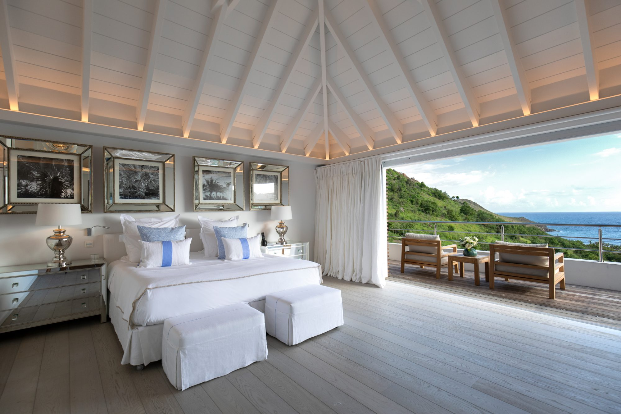 The idyllic French-Caribbean island of St. Barths might have been well and truly discovered by the jetset, but there are still a handful of lesser-known gems to uncover, like this swanky hilltop hideaway set high above Toiny Bay. Reopened in October 2018