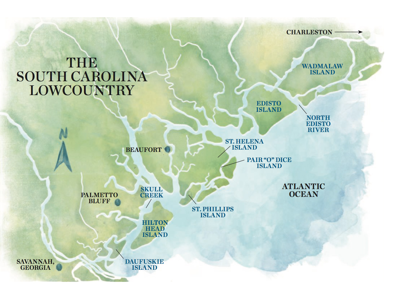 Map of the Lowcountry