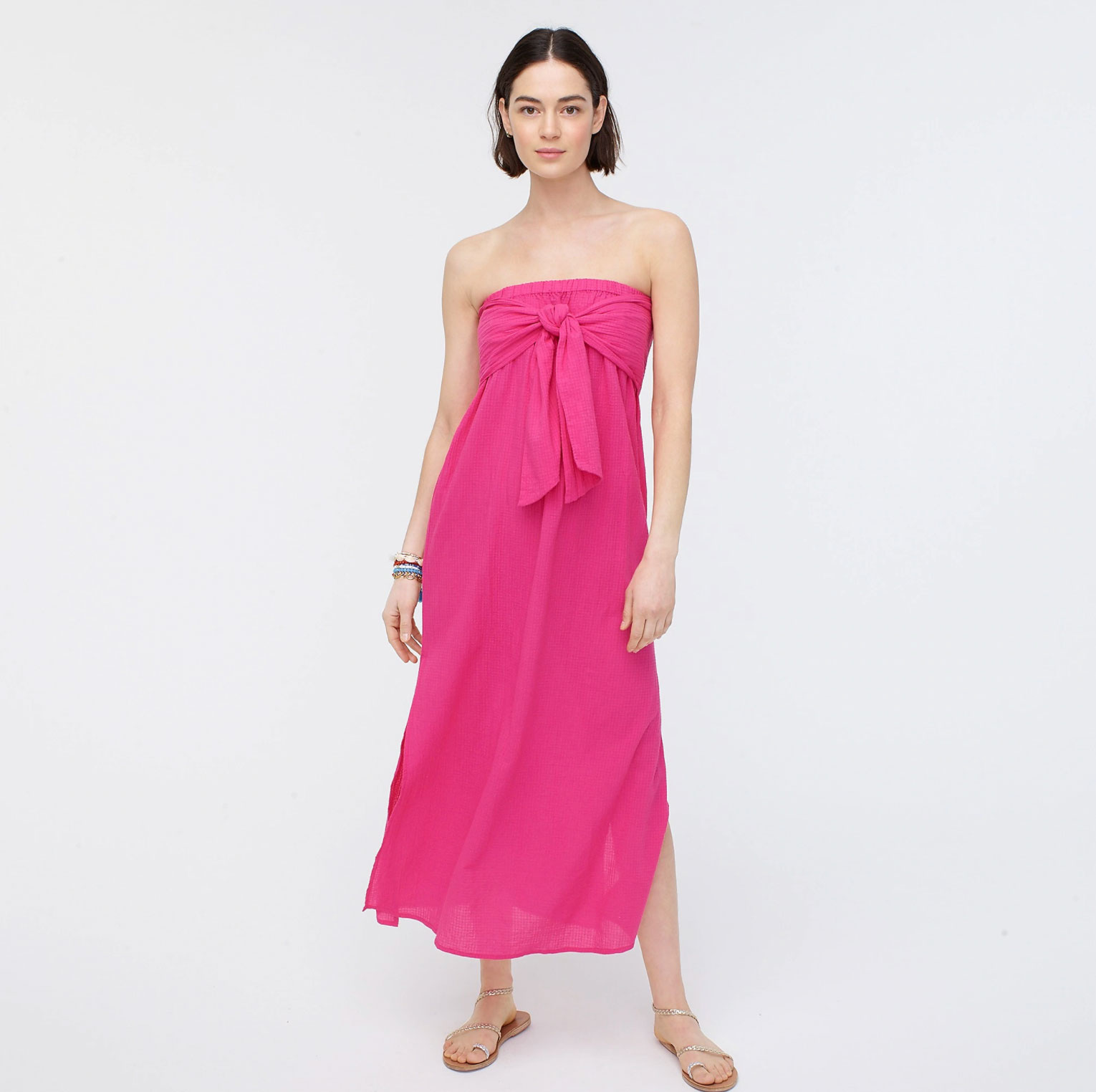 Buy It: $66; jcrew.com                                       The bow is both functional and fashionable. It's adjustable so the dress stays snug no matter where your swimsuit takes you.
