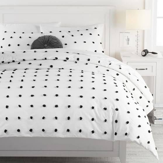 Tufted Dot Duvet Cover
