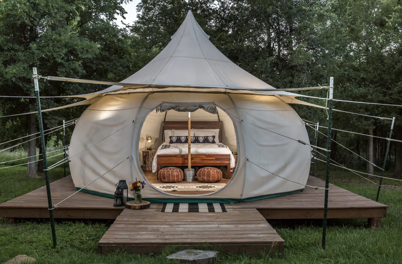 Glamping in Texas: Green Acres