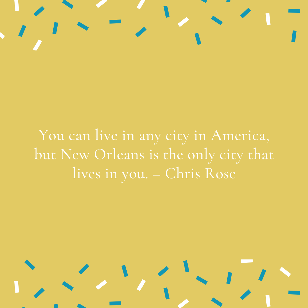 New Orleans is unlike any city in America. Its cultural diversity is woven into the food, the music, the architecture — even the local superstitions. It's a sensory experience on all levels and there's a story lurking around every corner. — Ruta Sepetys