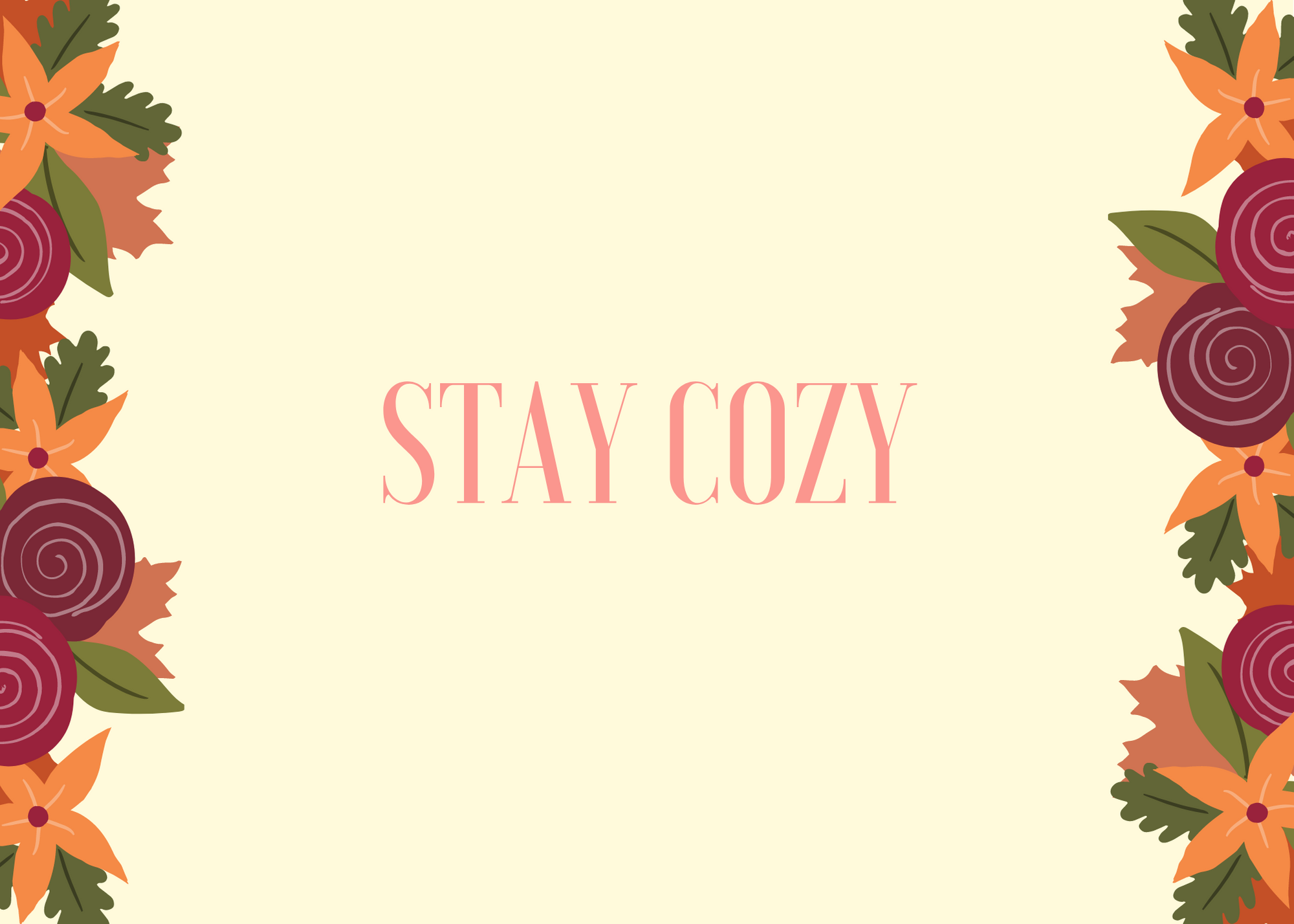 Funny Fall Instagram Caption About Staying Cozy