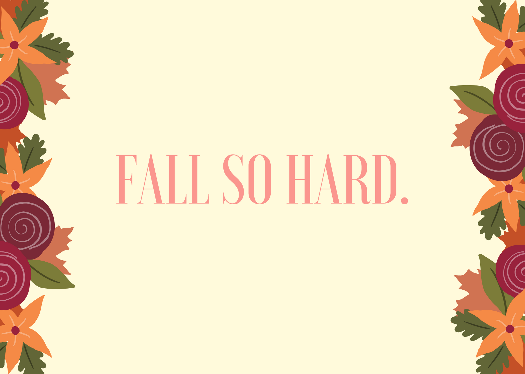 Funny Fall Instagram Caption About Falling So Hard