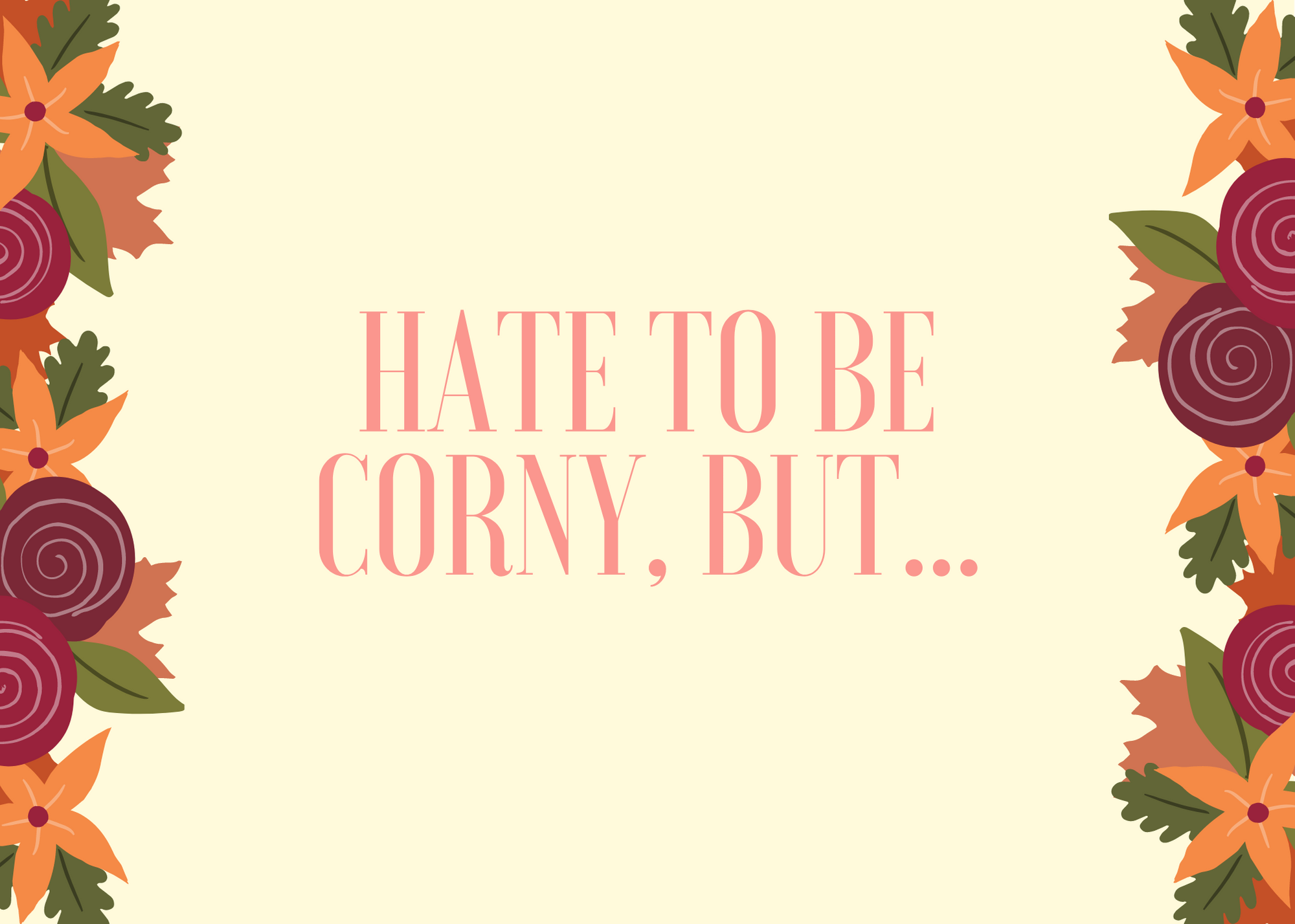 Funny Fall Instagram Caption About Being Corny