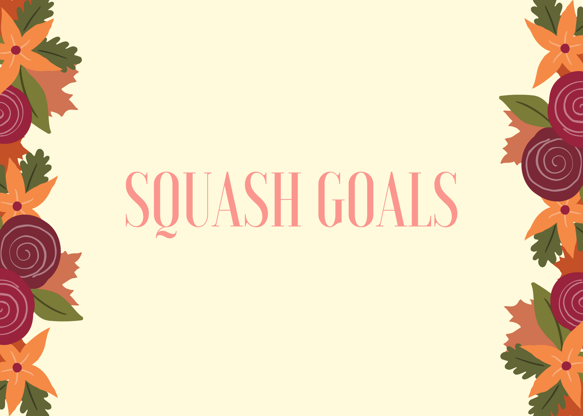 Funny Fall Instagram Caption About Squash Goals