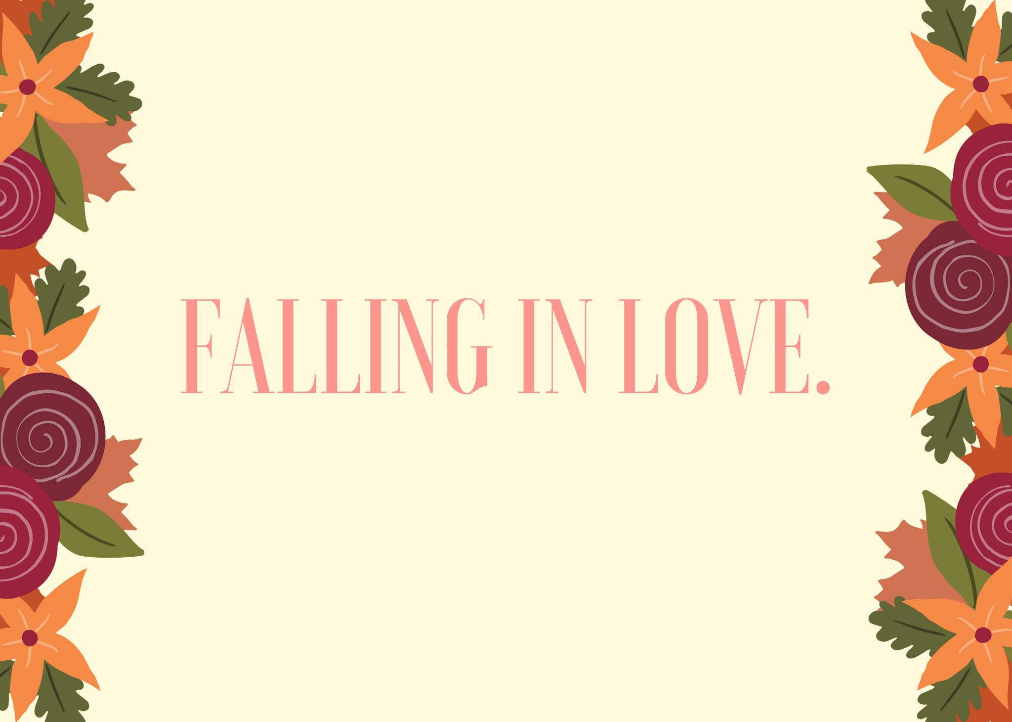 Funny Fall Instagram Caption About Falling In Love