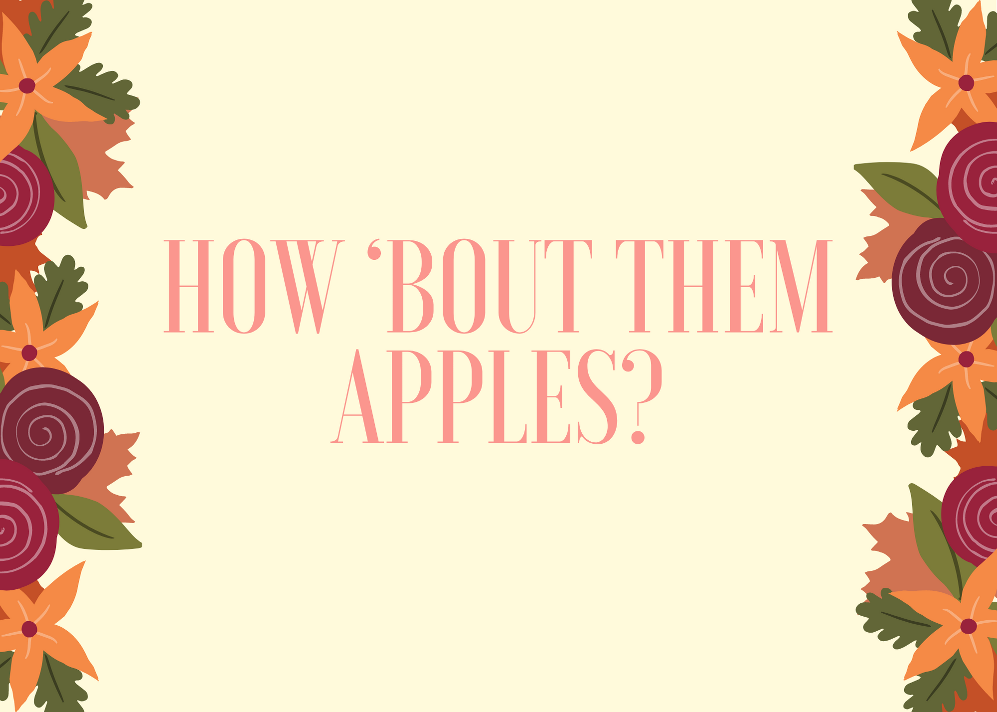 Funny Fall Instagram Caption About Apples