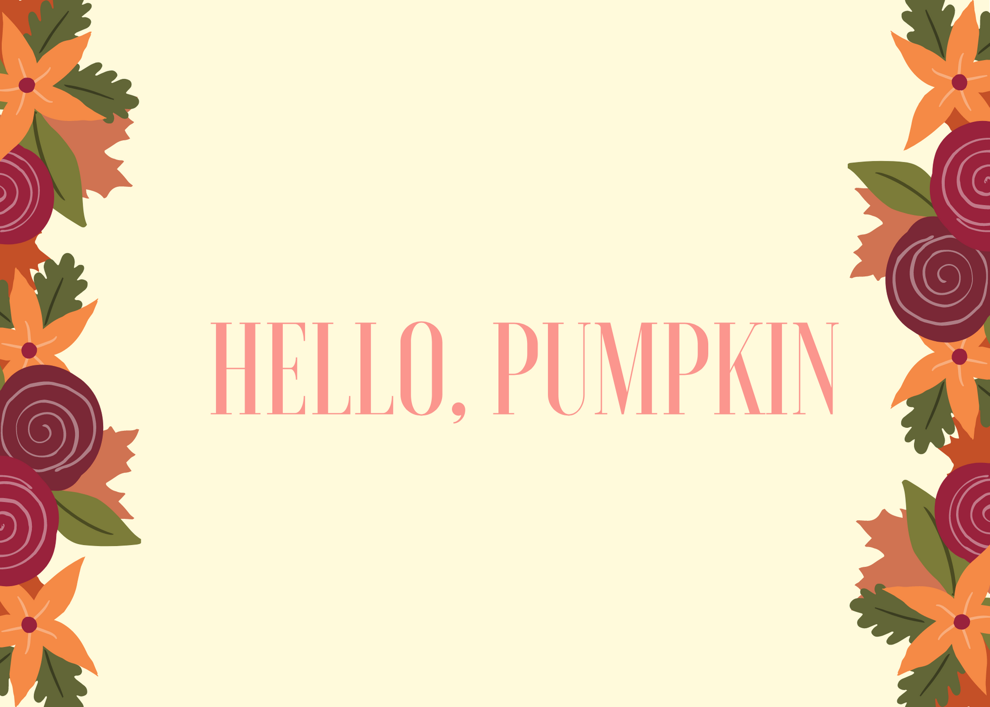 Funny Fall Instagram Caption About Hello Pumpkin
