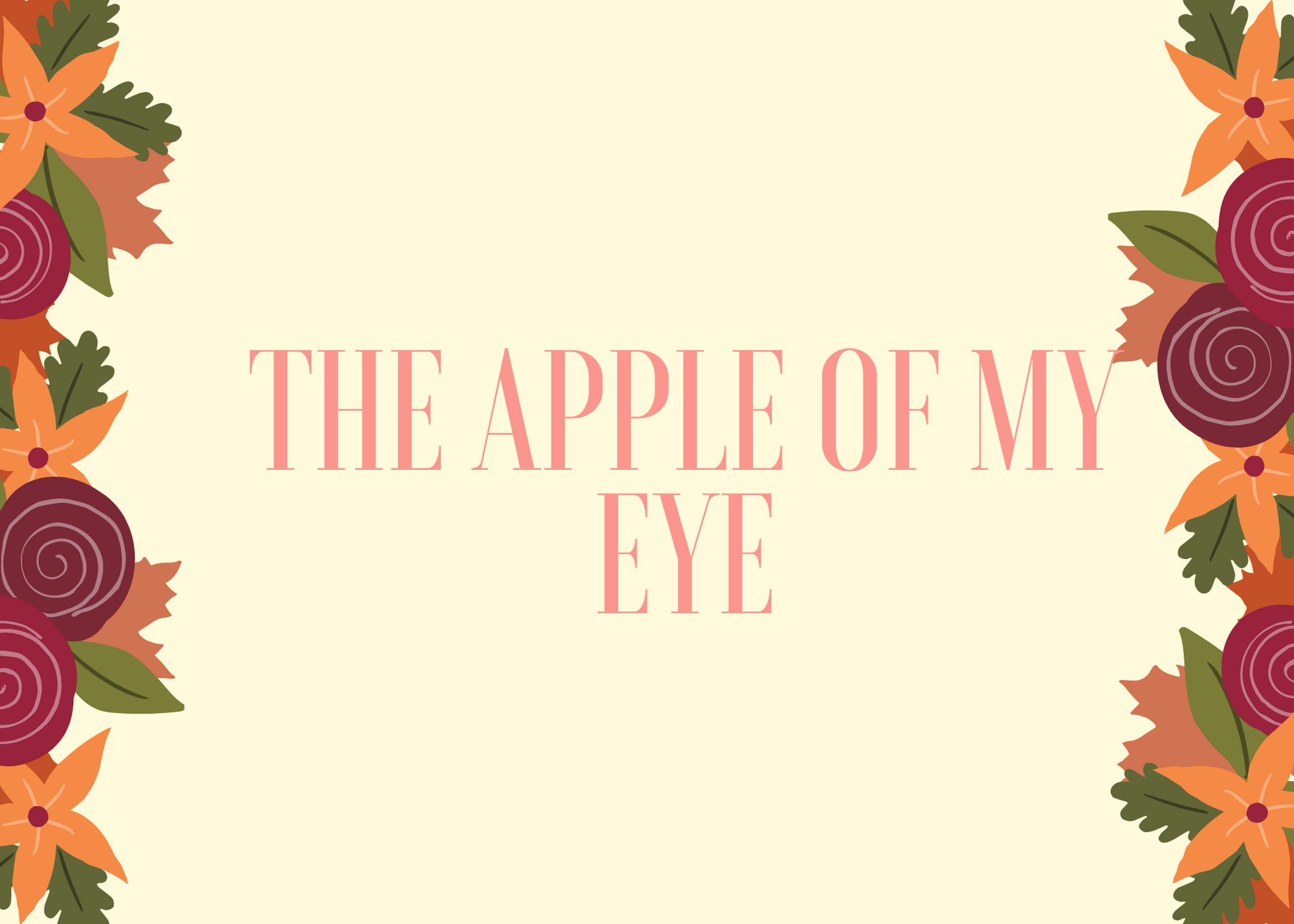 Funny Fall Instagram Caption About Apple Of My Eye