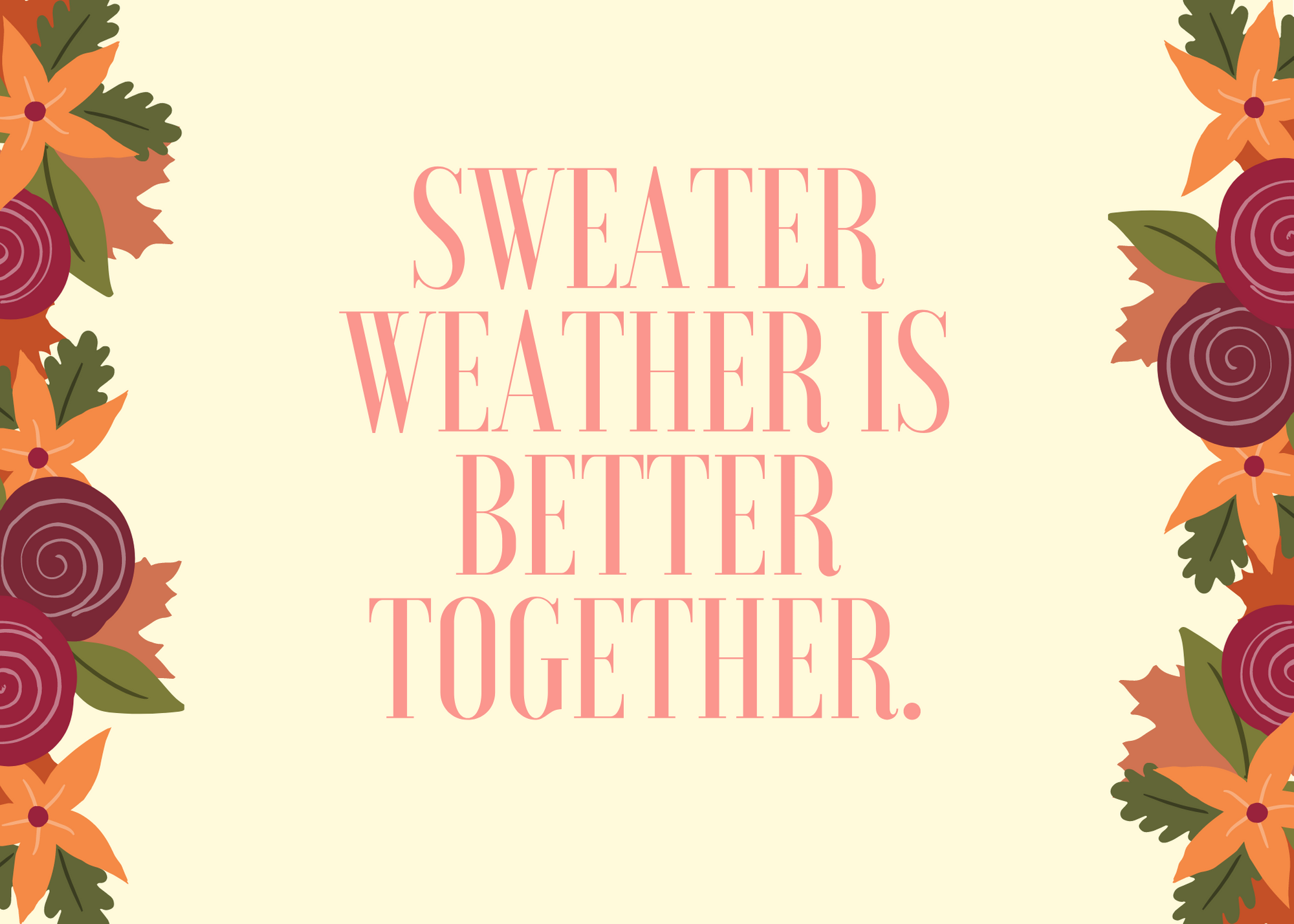 Funny Fall Instagram Caption About Sweater Sweater