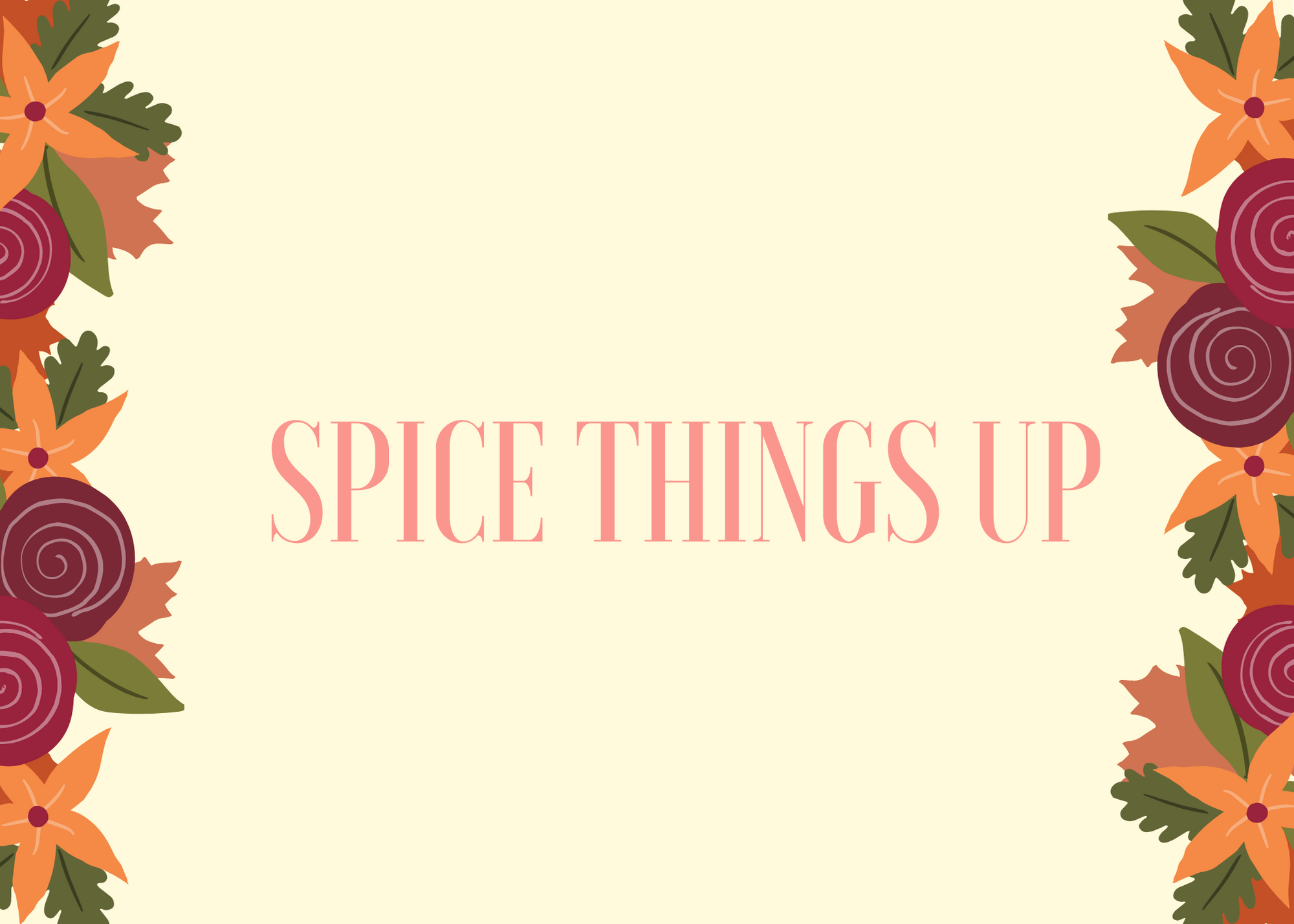 Funny Fall Instagram Caption About Spice Things Up