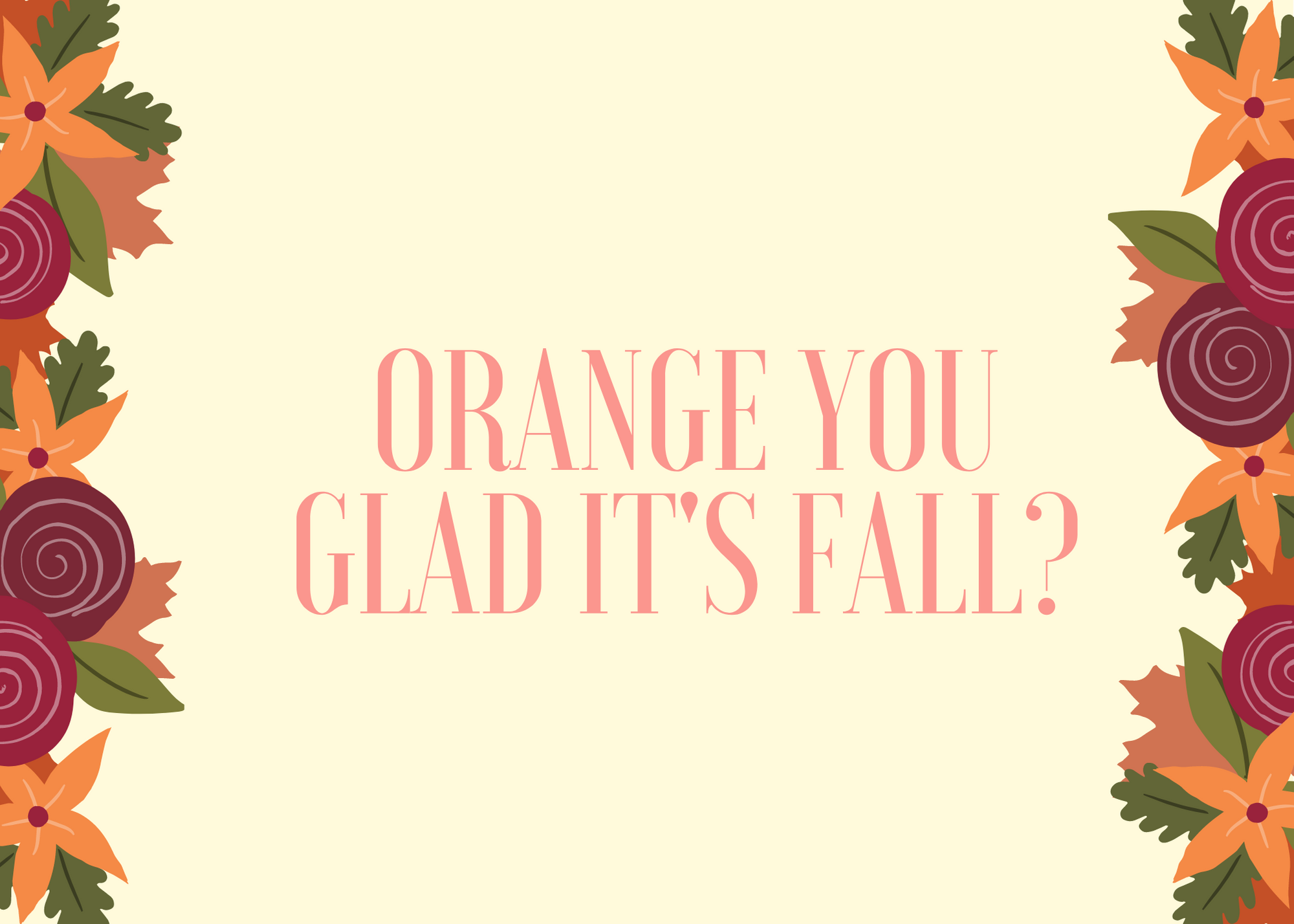 Funny Fall Instagram Caption About Orange