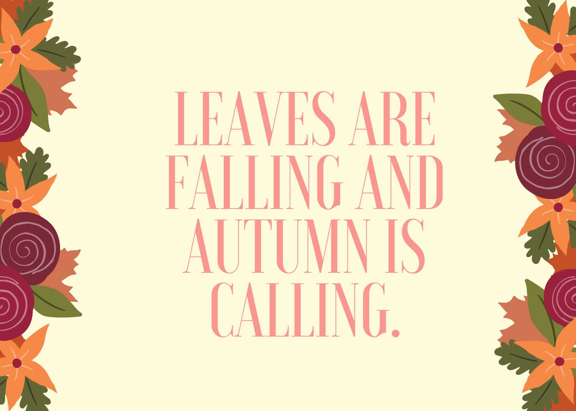 Funny Fall Instagram Caption About Calling