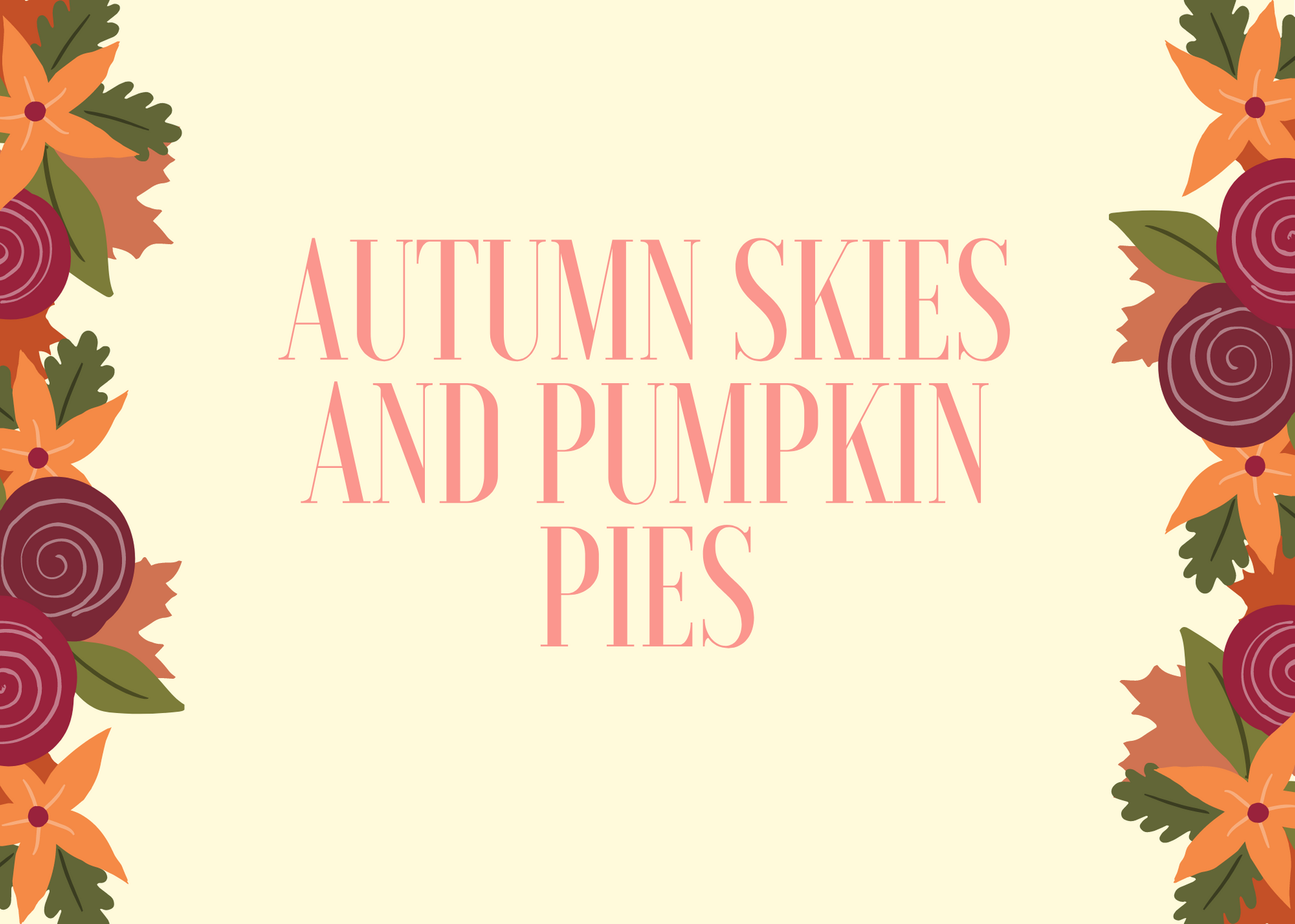 Funny Fall Instagram Caption About Autumn Skies