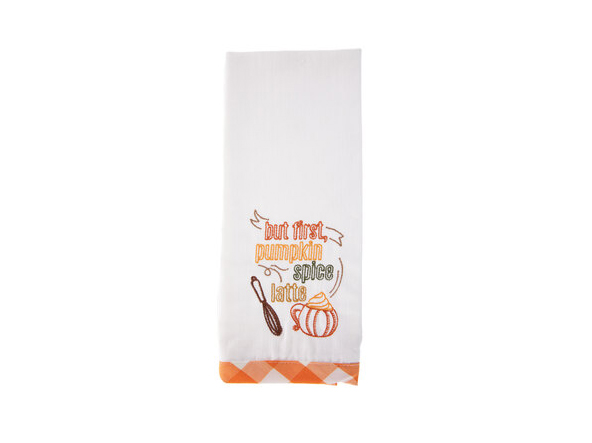 But First Pumpkin Spice Latte Kitchen Towel