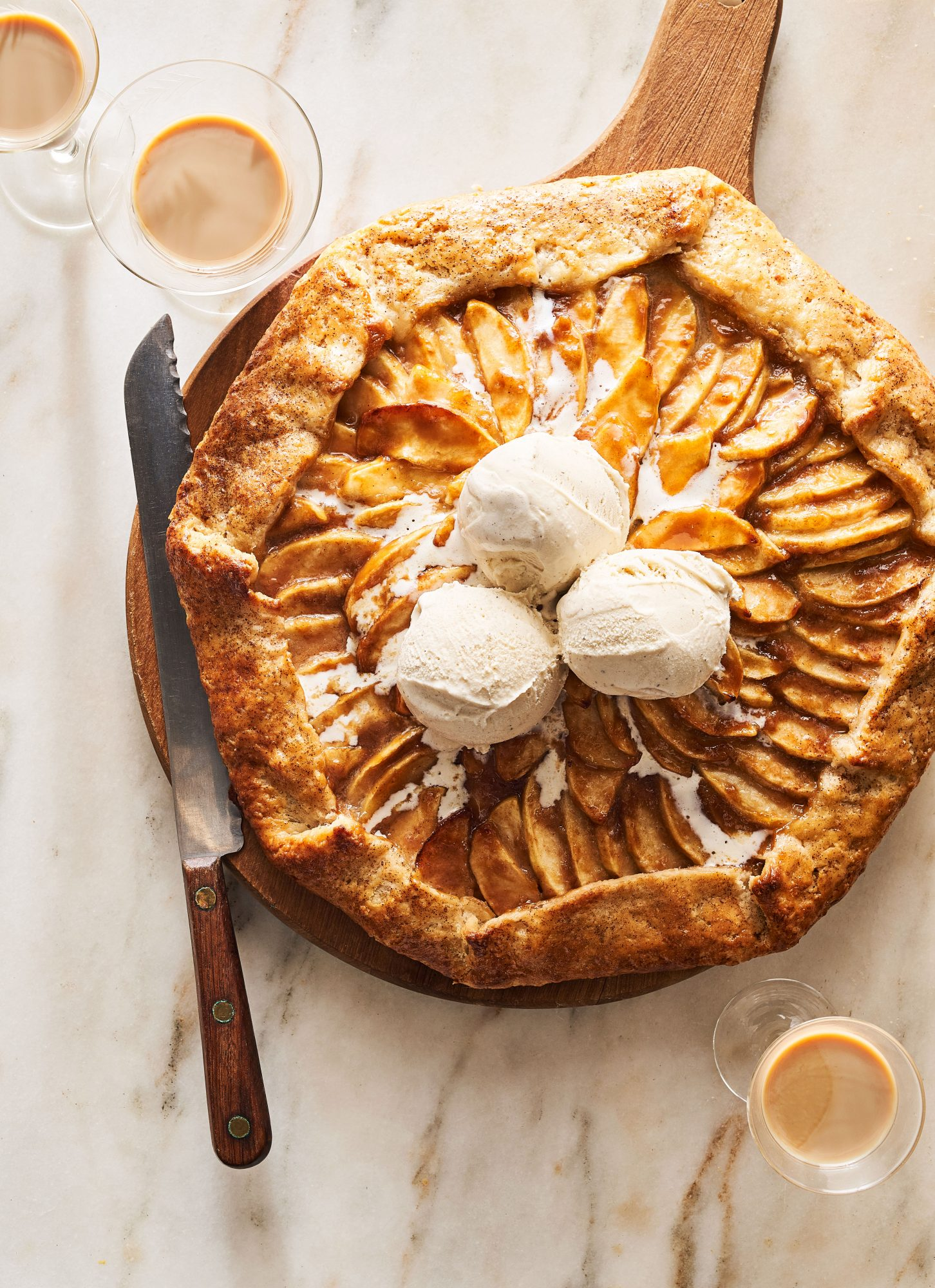 Jerrelle Guy's Salted Irish Cream-Apple Crostata