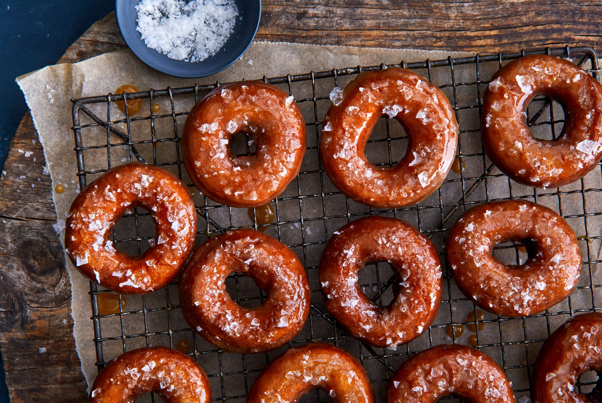 Apple Butter Doughnuts with Salted-Caramel Glaze