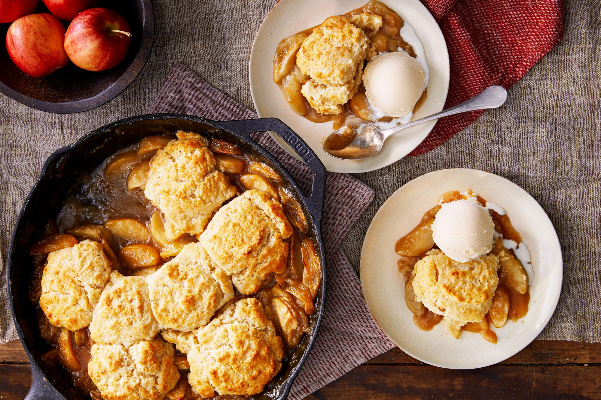 Apple Butter Cobbler with Drop Biscuits