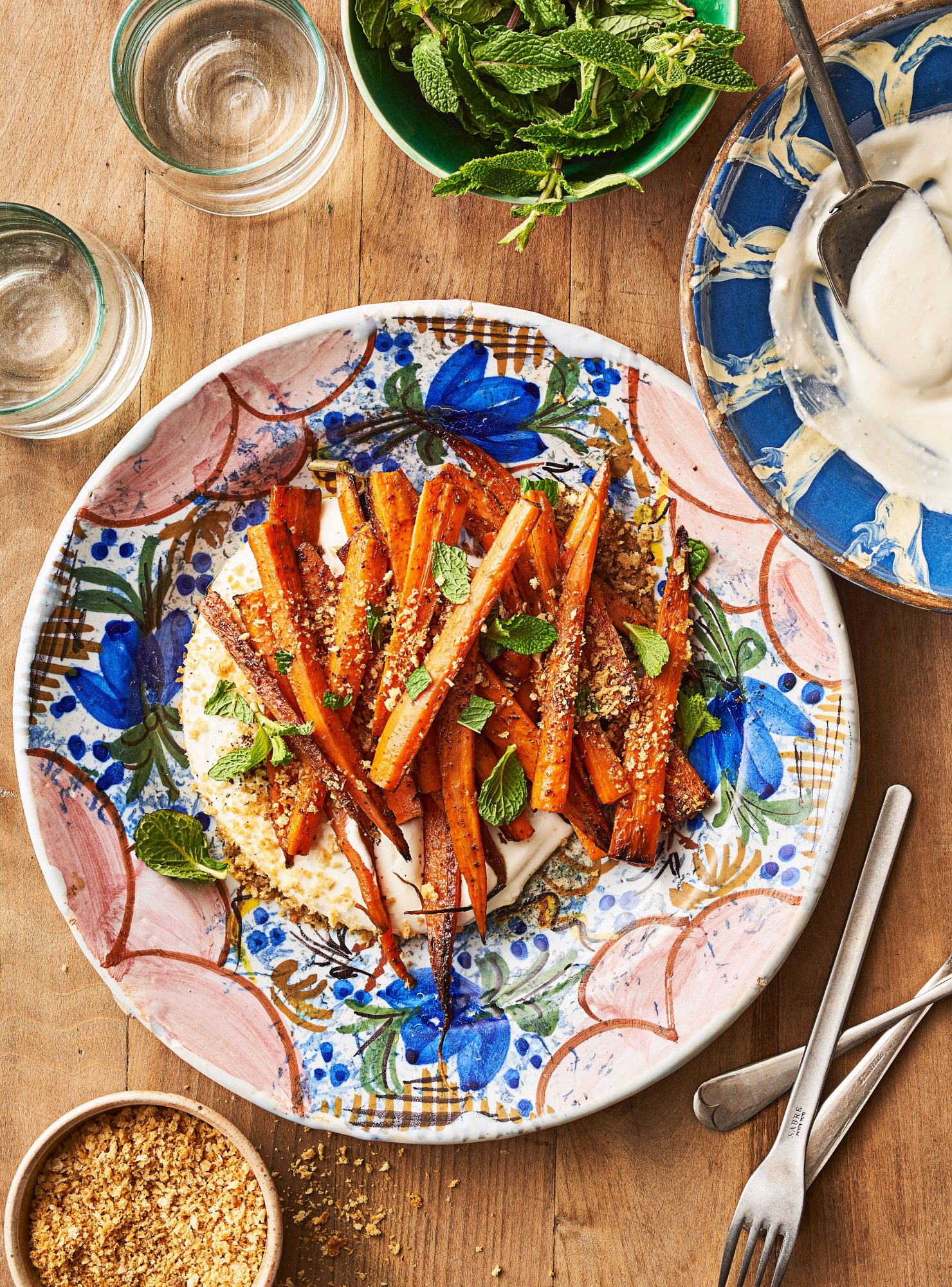 Coby Ming and Damaris Phillips' Sumac Carrots with Feta Mousse and Crispy Panko