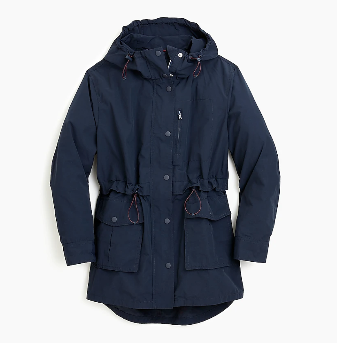 J Crew Perfect Rain Jacket in Navy