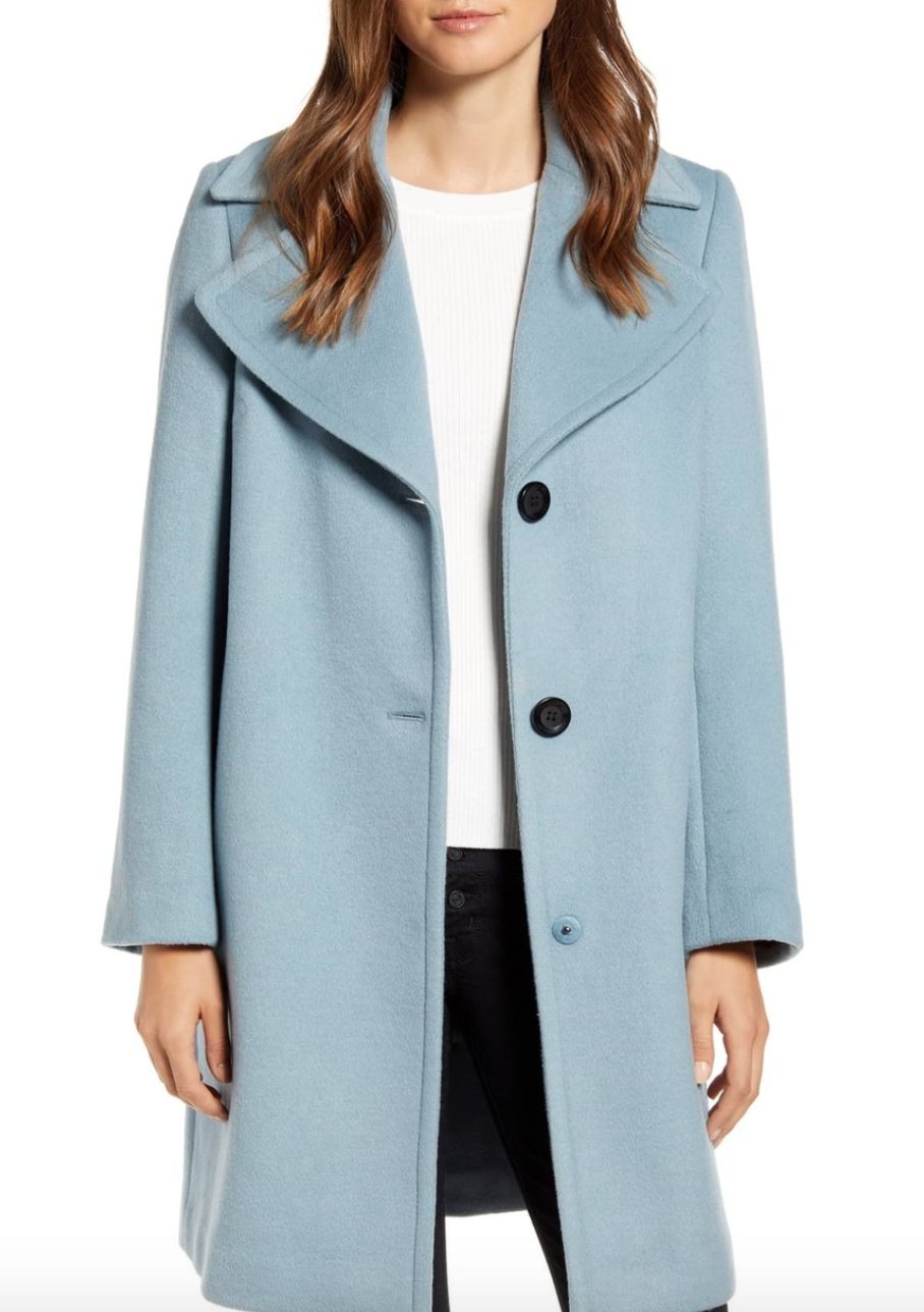 Sam Edelman Wool Single Breasted Coat