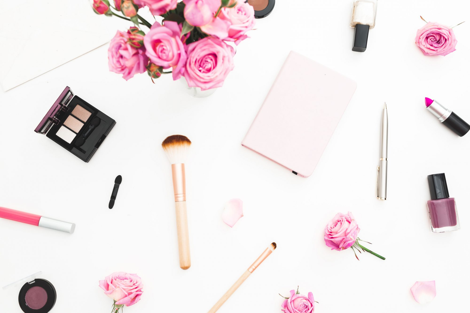 Makeup and Cosmetics on Table