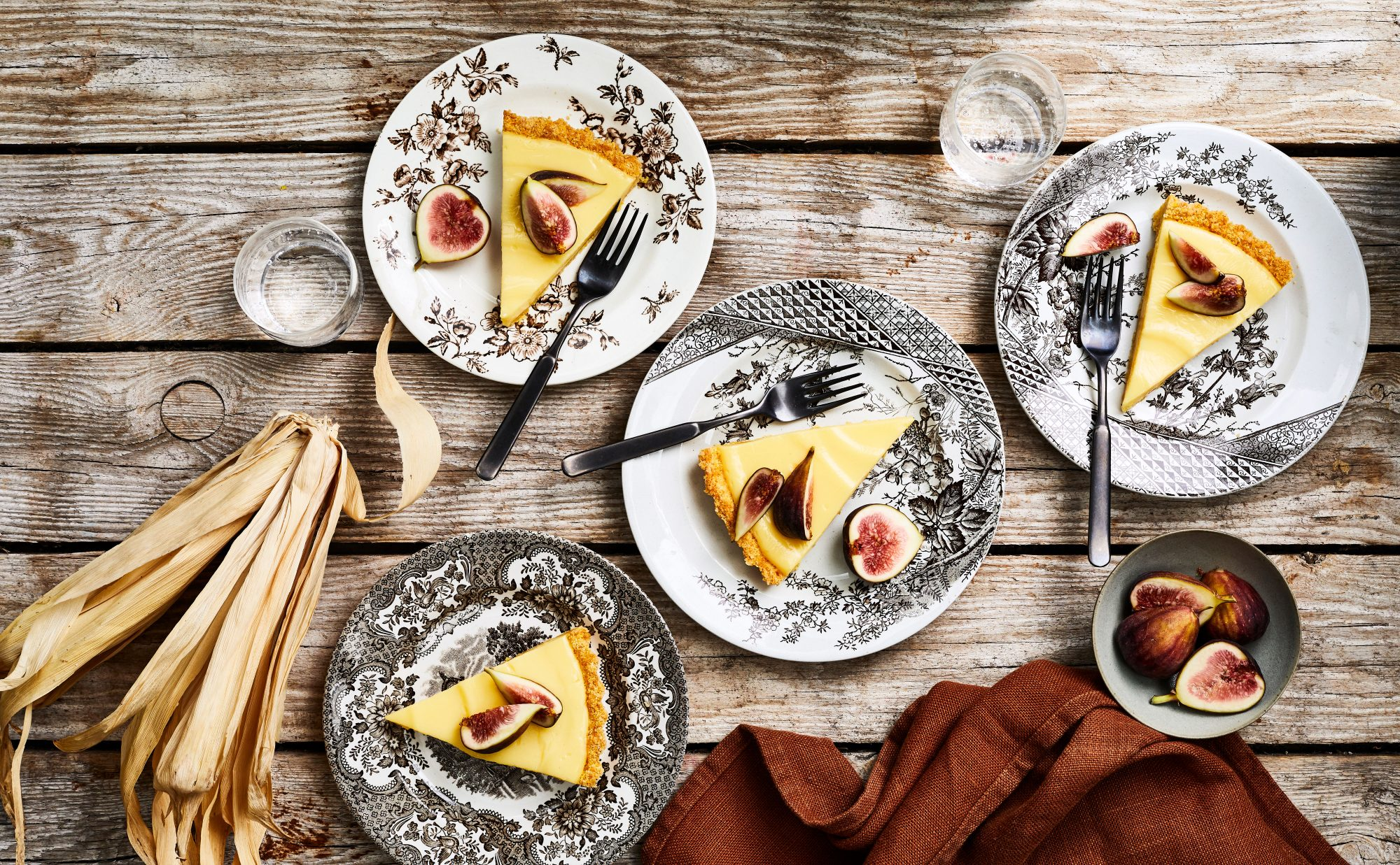 Ginger-Fig Tart with Cornmeal Crust