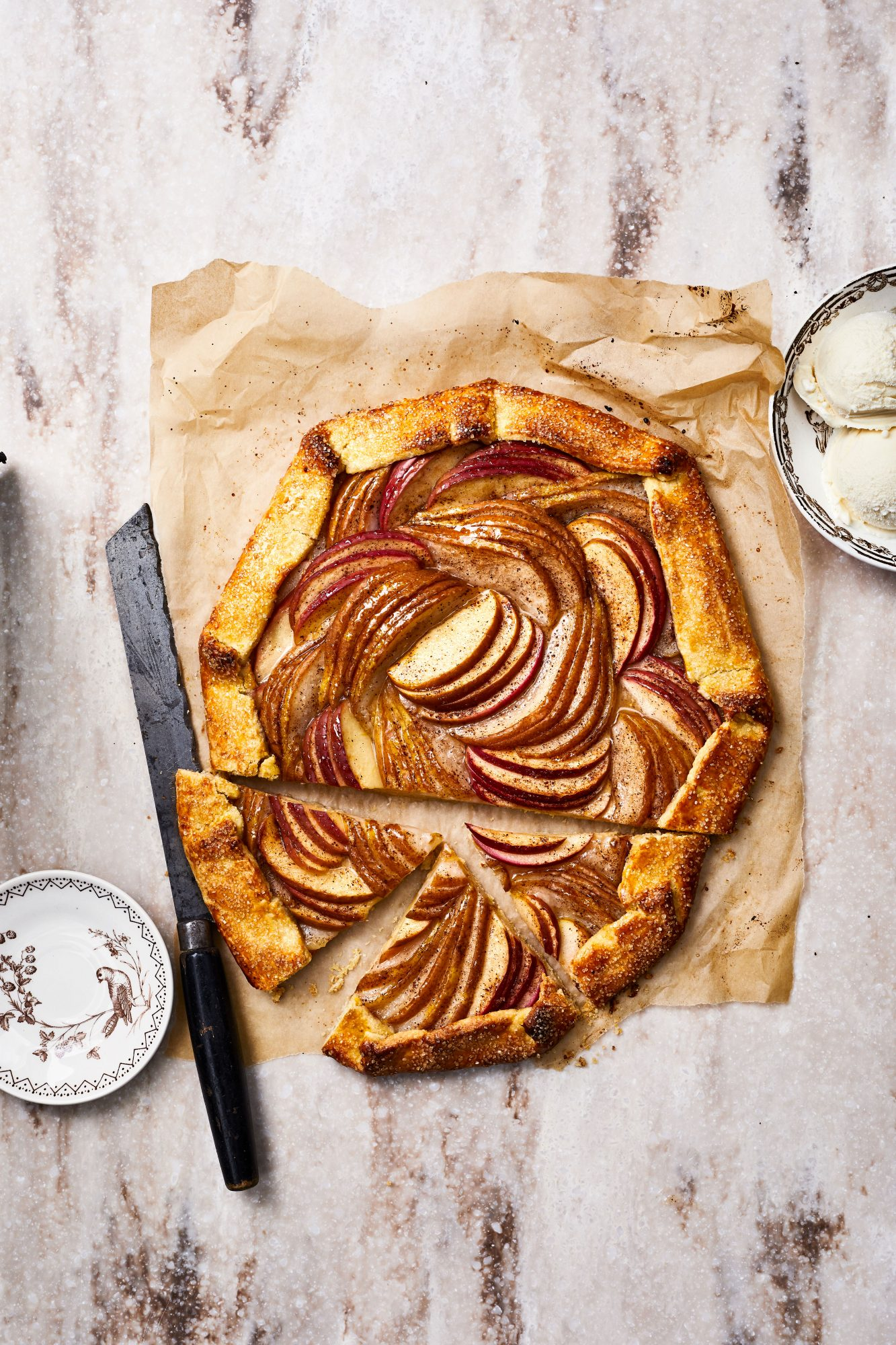 Apple-and-Pear Cornmeal Galette