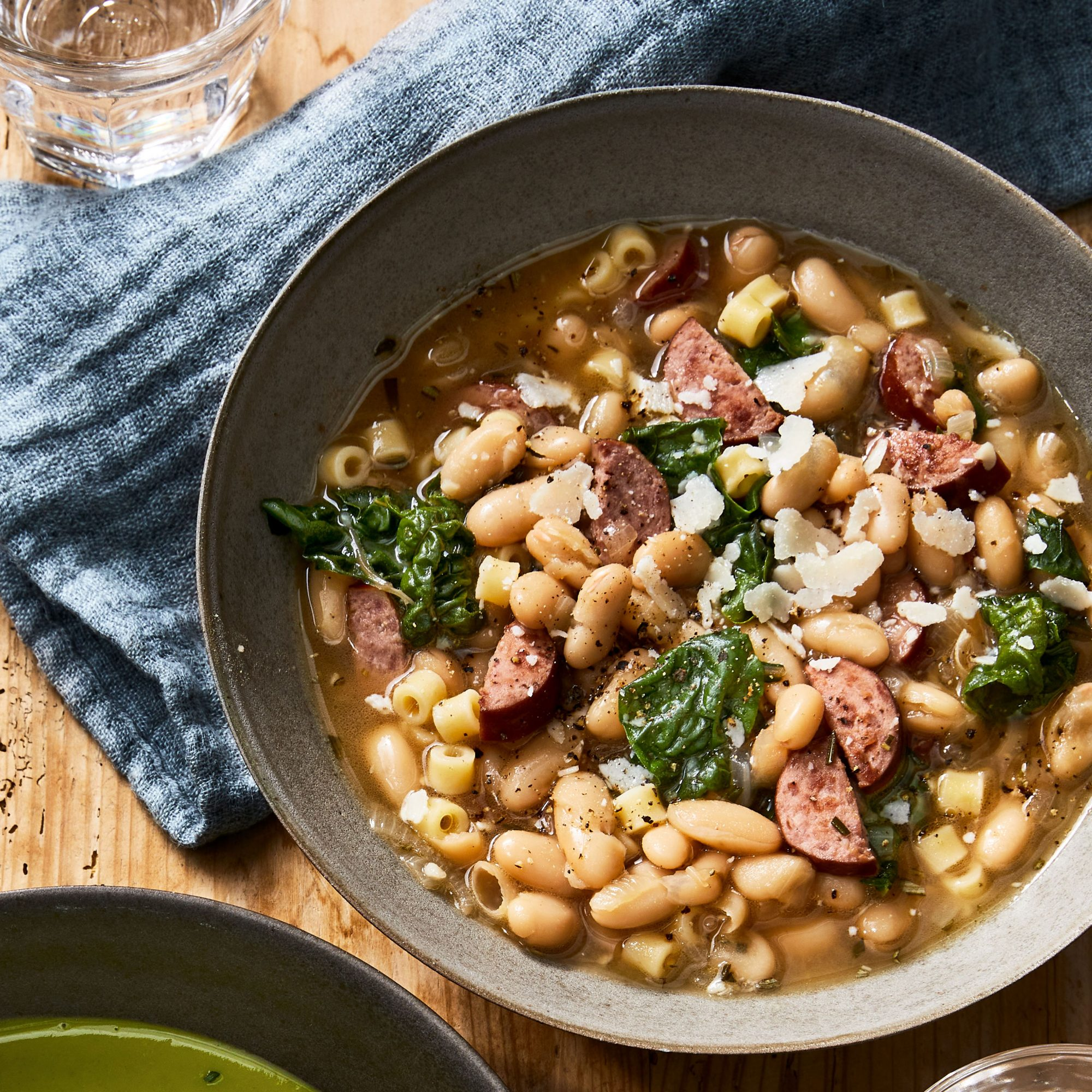 White Bean Soup with Pasta and Sausage