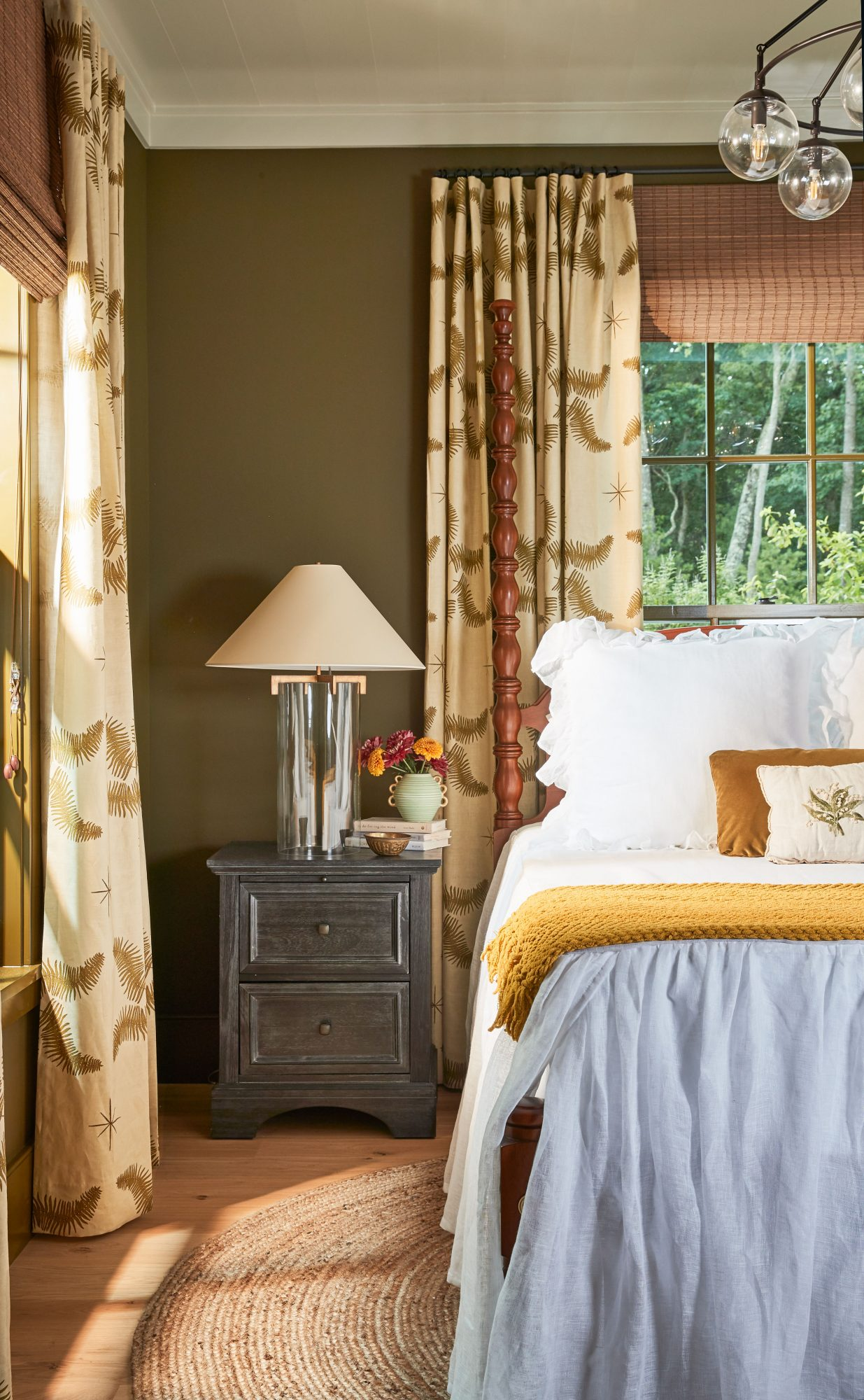 Idea House 2020 Guest Bedroom with Warm Neutral Colors