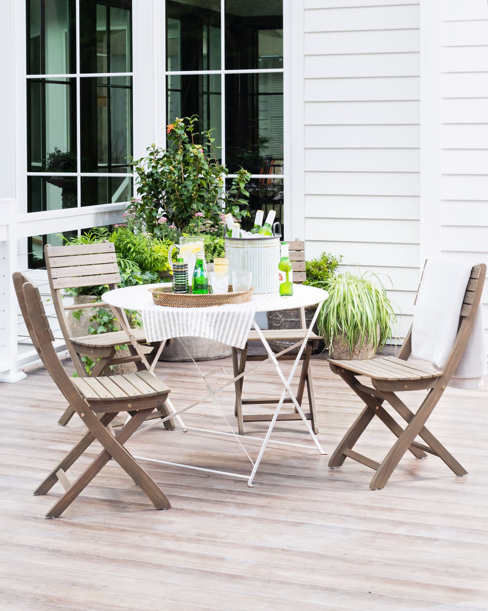 Idea House 2020 Outdoor Bistro Table Sitting Area on Porch