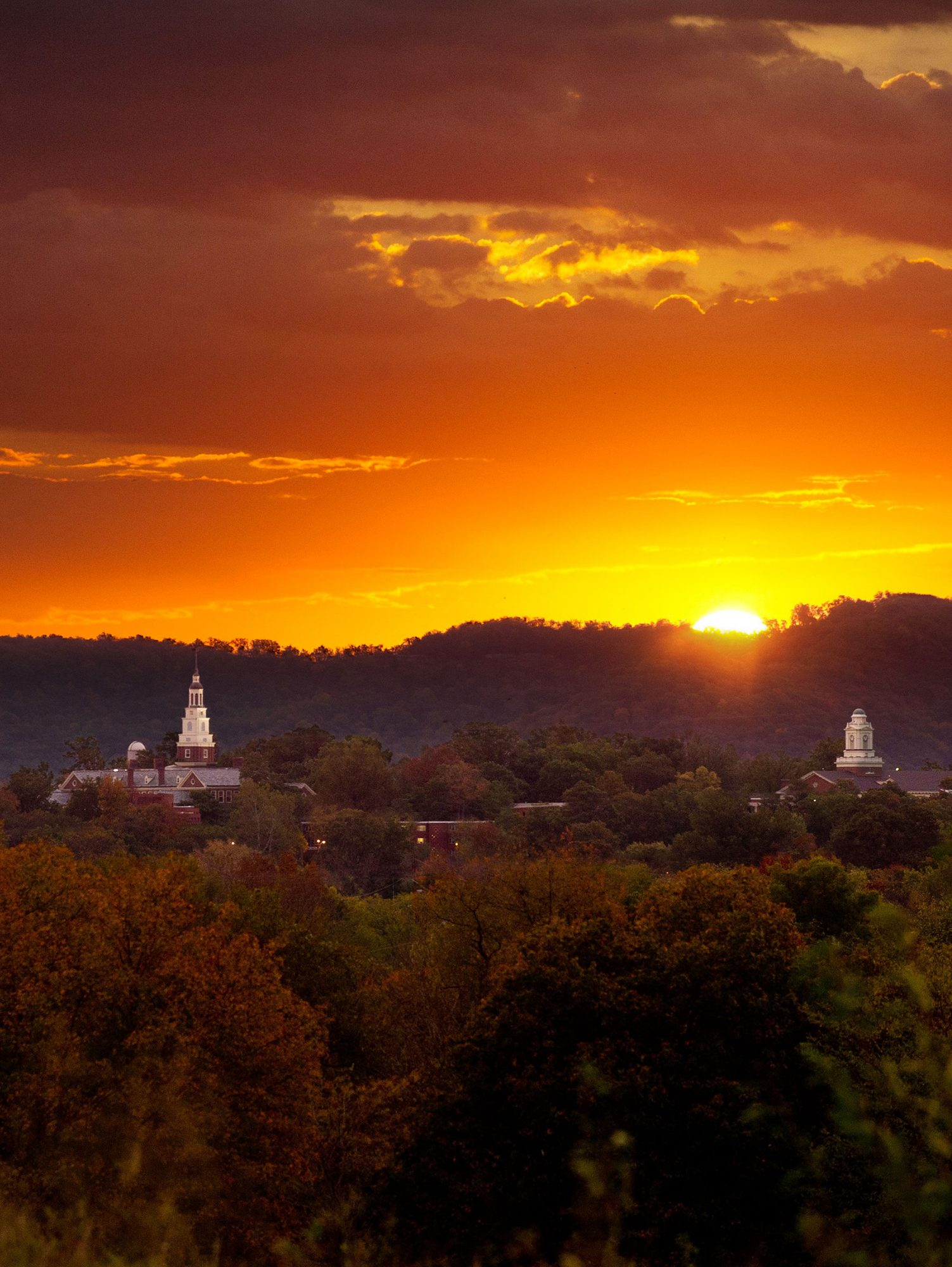 Berea College at Sunset