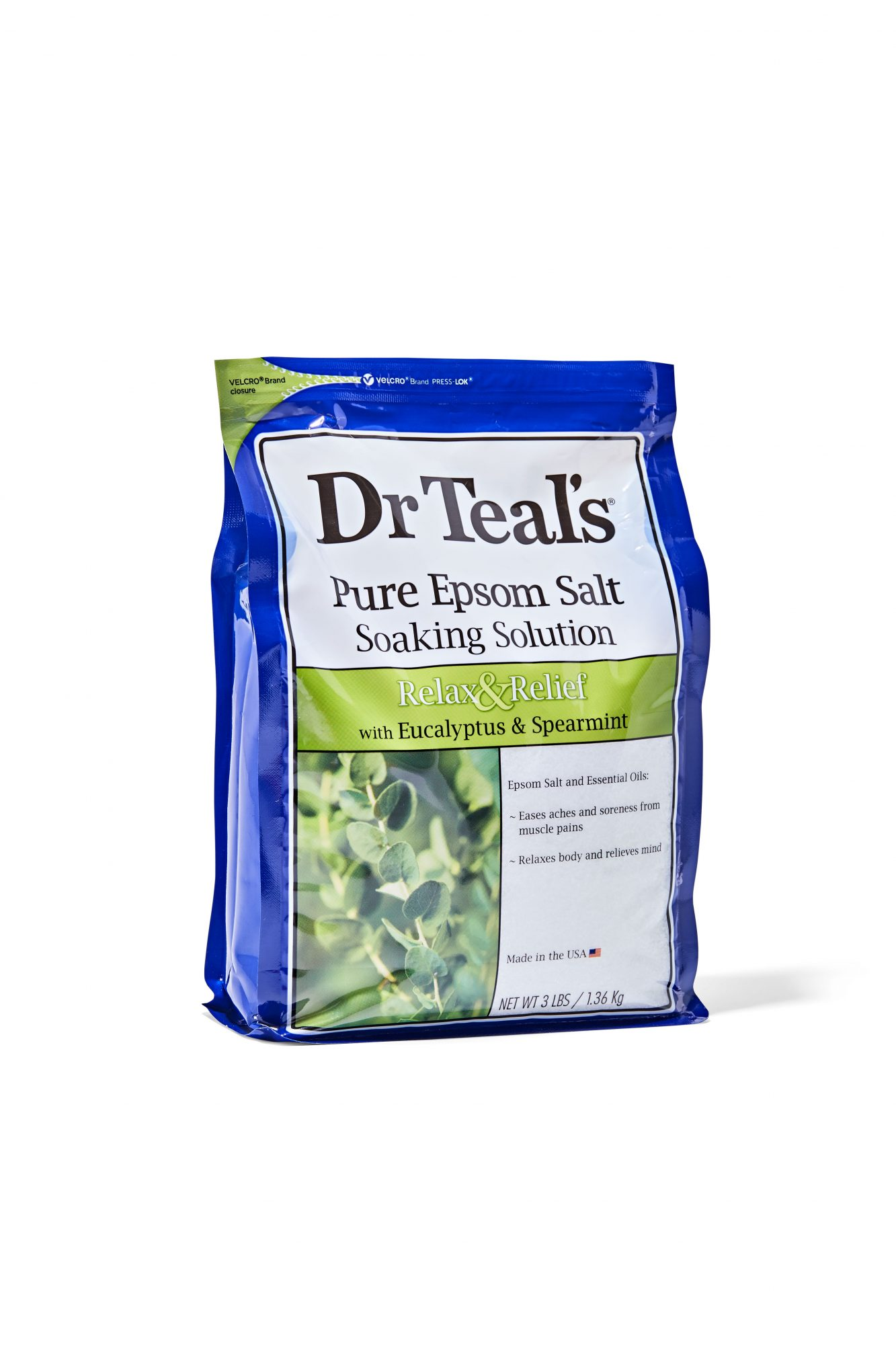 Dr Teal's Pure Epsom Salt Soaking Solution Relax & Relief with Eucalyptus & Spearmint