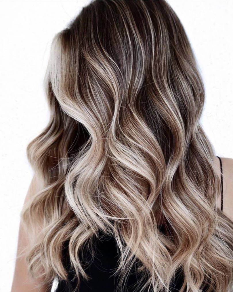 Frosted Blonde Balayage