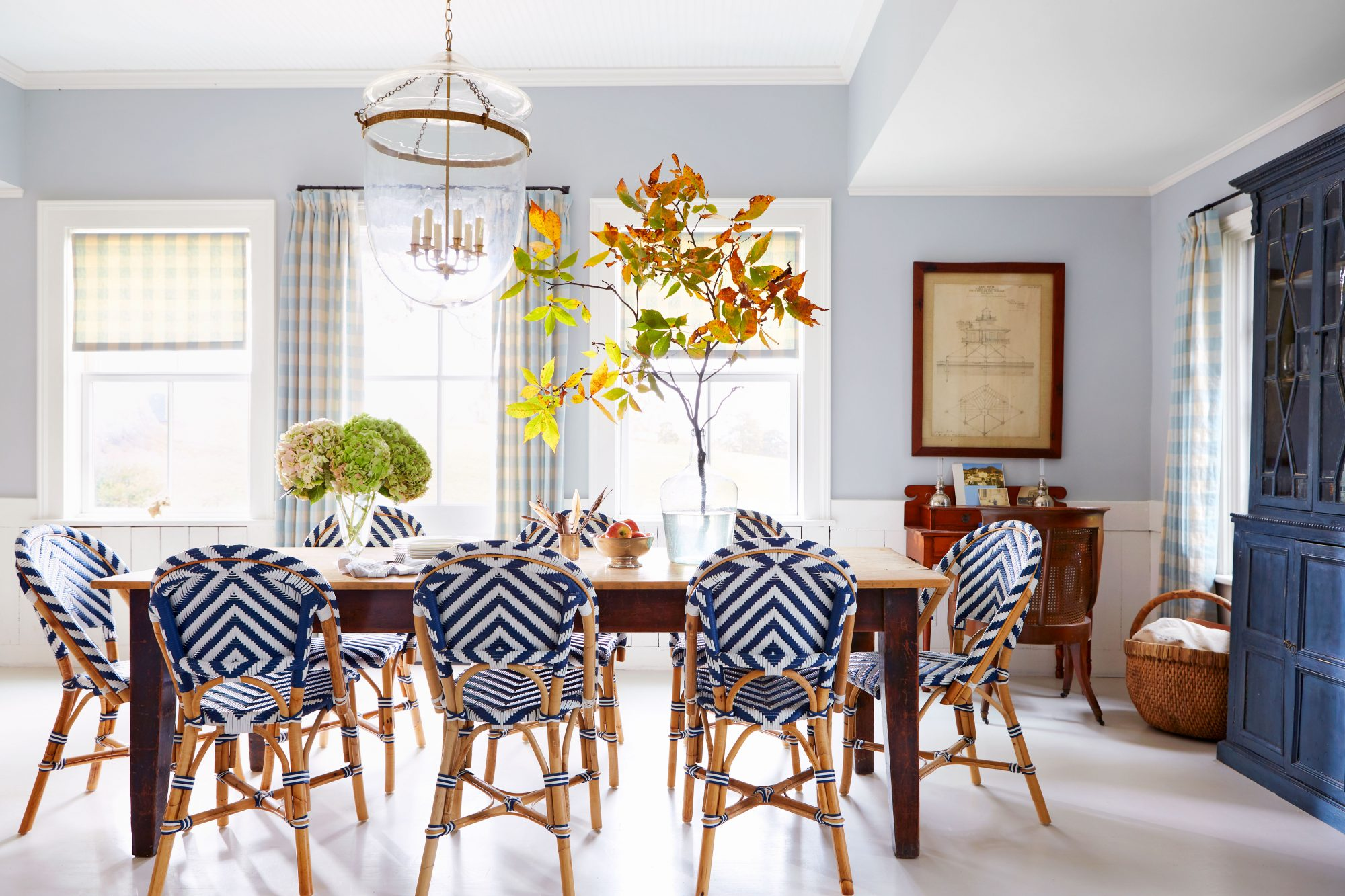 Madison Spencer Virginia Cottage Blue and White Dining Room
