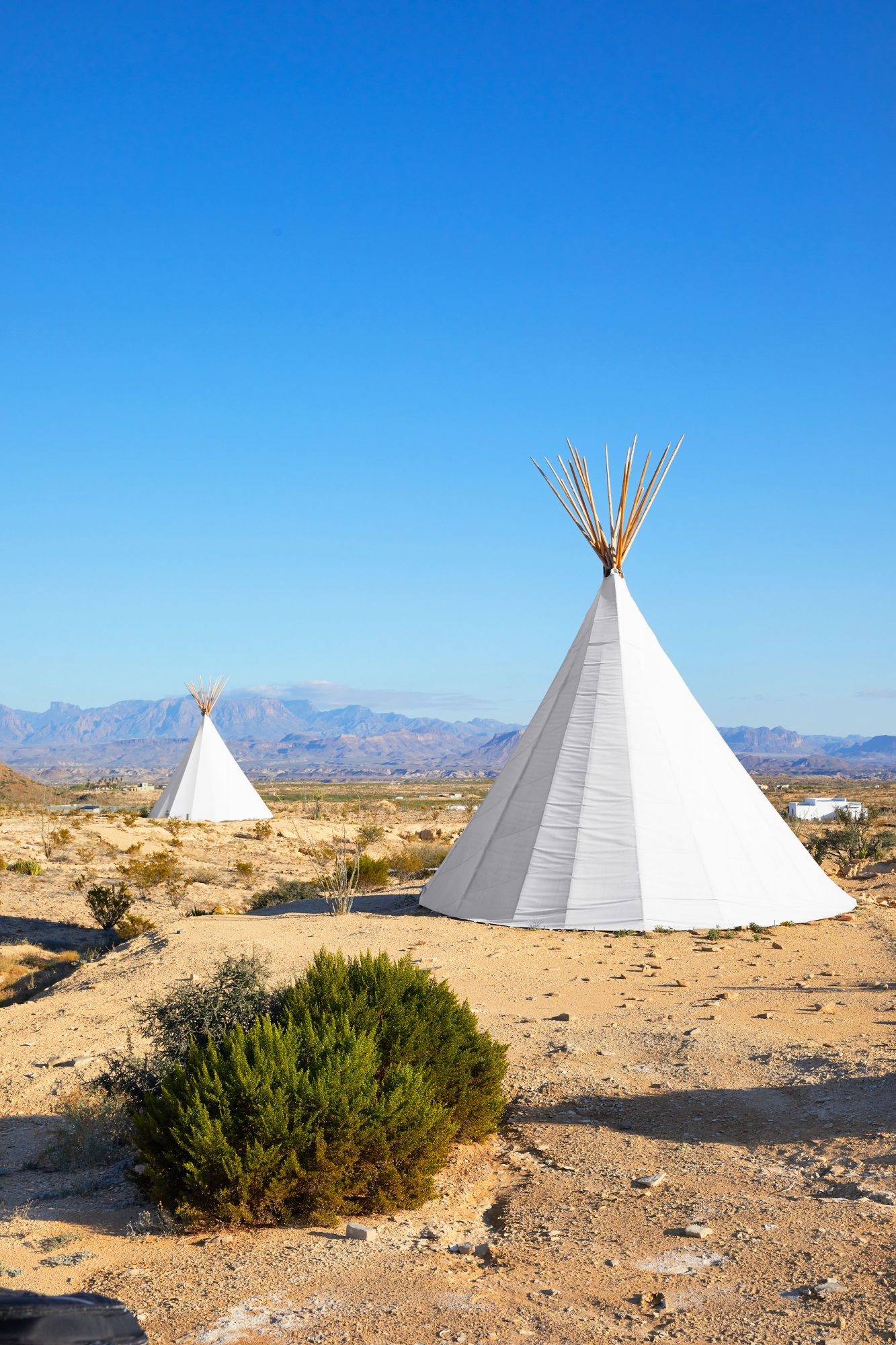 Tepee Lodging at Basecamp Terlingua in West Texas
