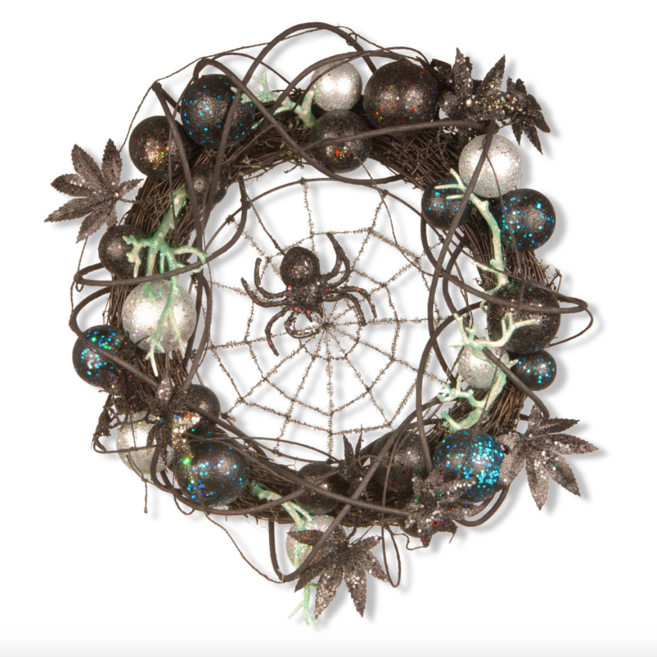 National Tree Company Halloween Spider Wreath