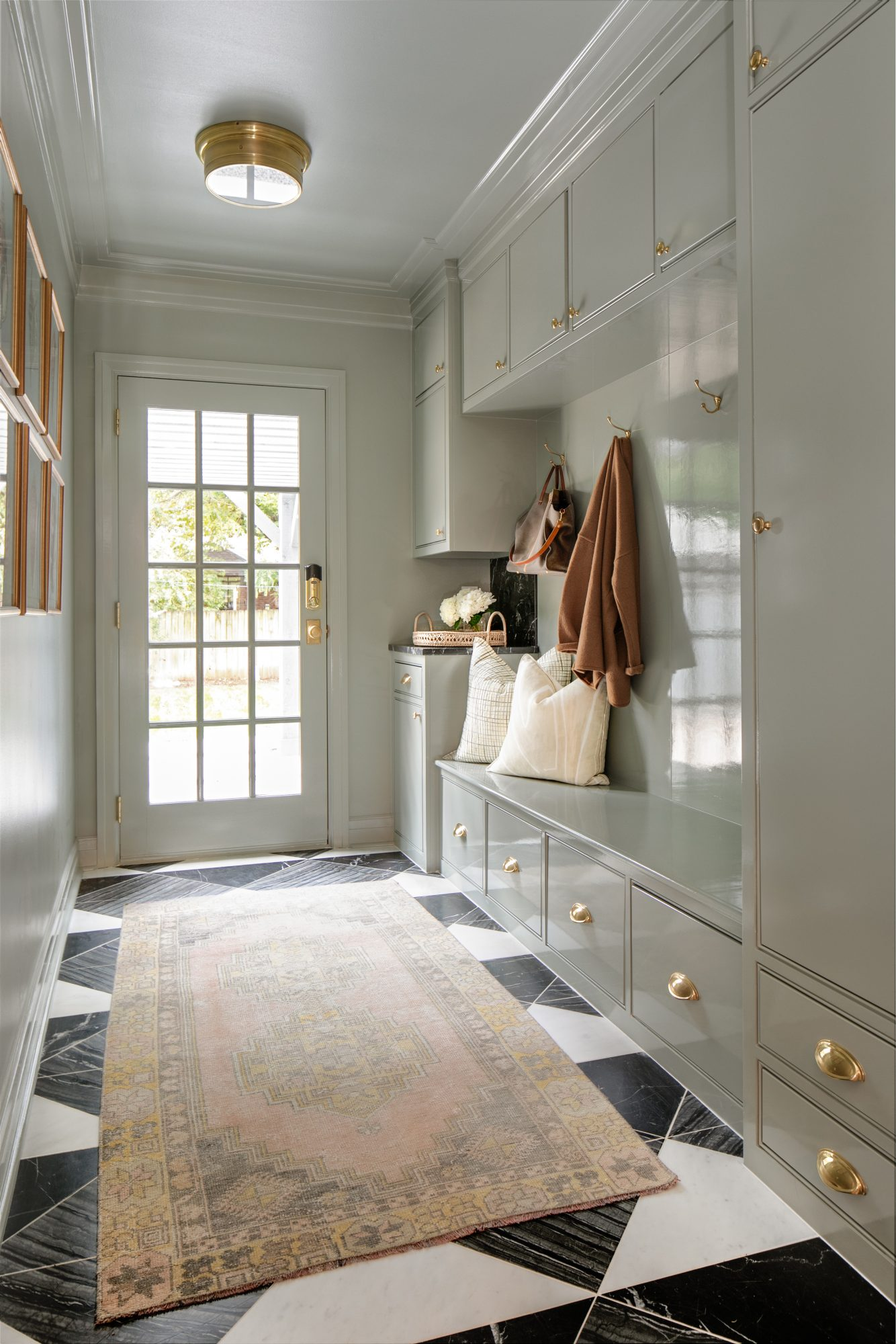 Farrow and Ball Pigeon Paint Mudroom