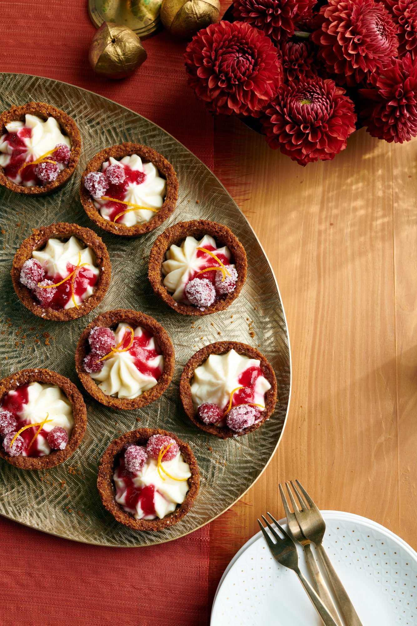Mini Cranberry-Cheesecake Pies