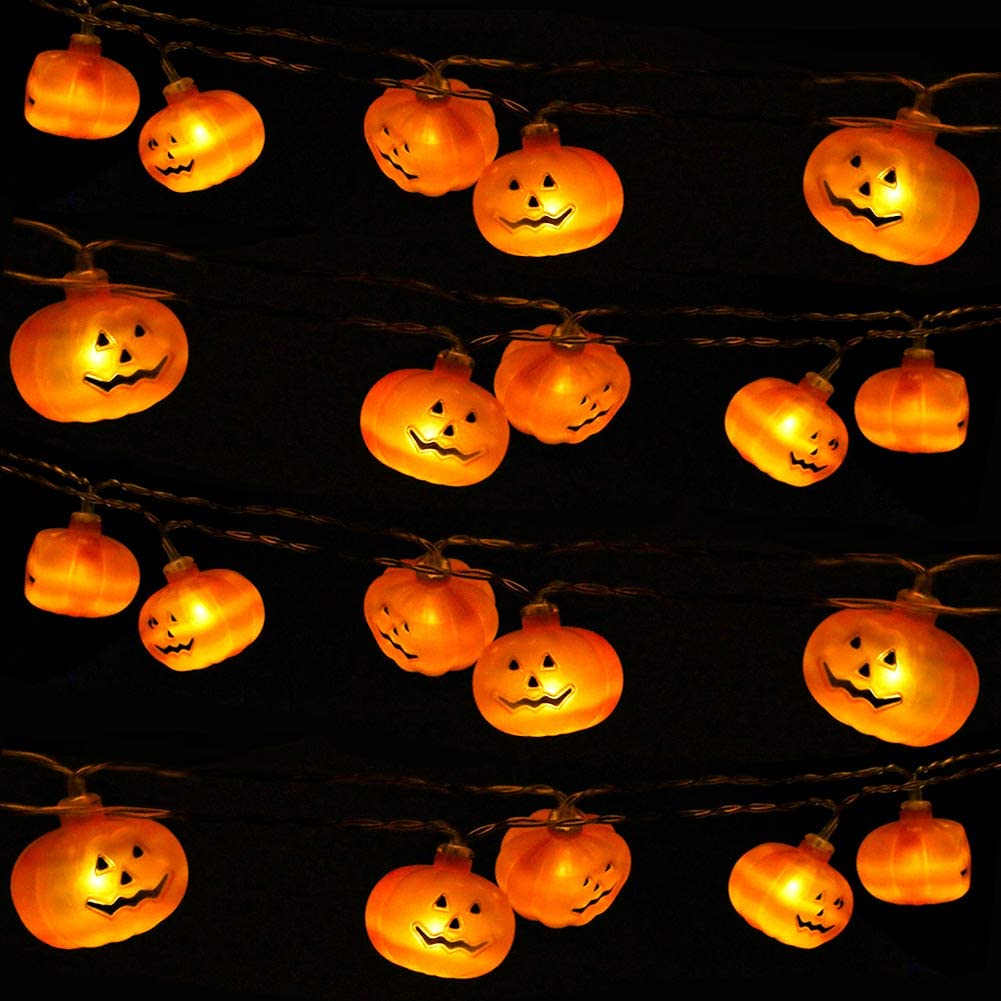 Buy It: $12; amazon.comThese cheery lights are perfect if you don't feel like making a mess with caring a jack-o-lantern.