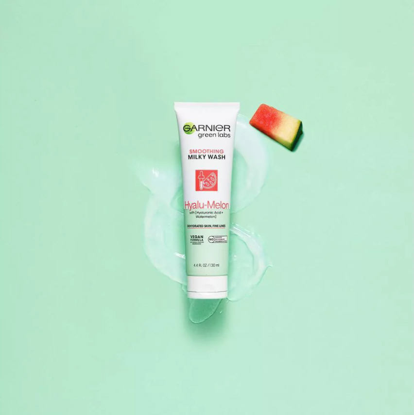 Garnier Green Labs Hyalu-Melon Smoothing Milky Wash with Hyaluronic Acid + Watermelon