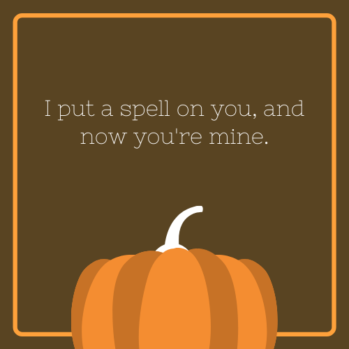 I Put a Spell on You Halloween Quote