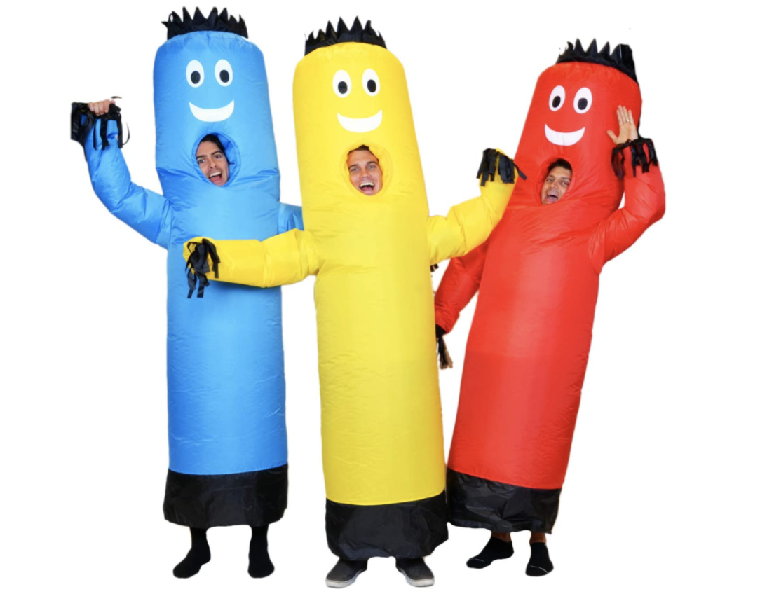 Family Halloween Costumes Inflatable Tube Dancers