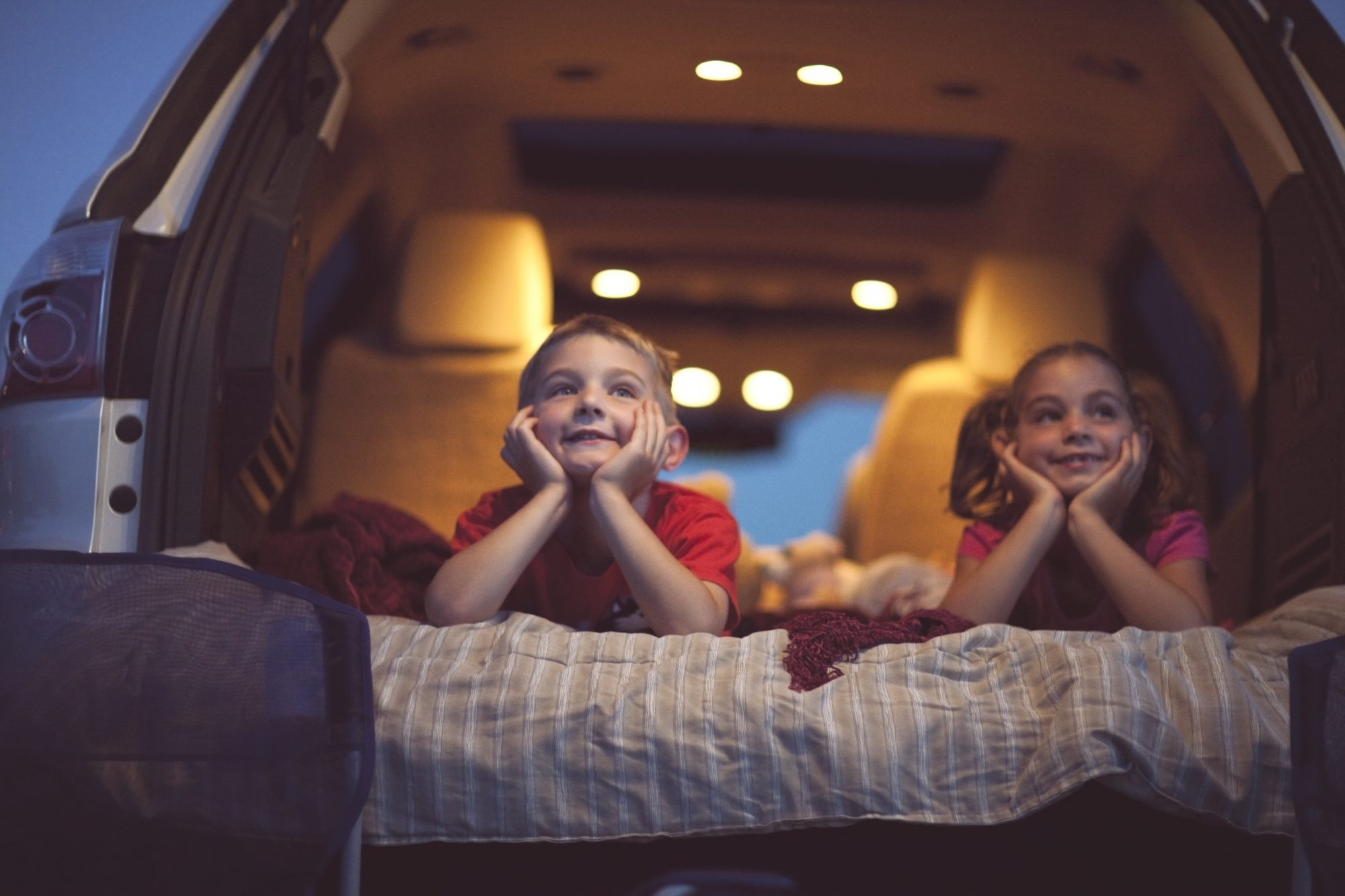 Children at a Drive-in Movie