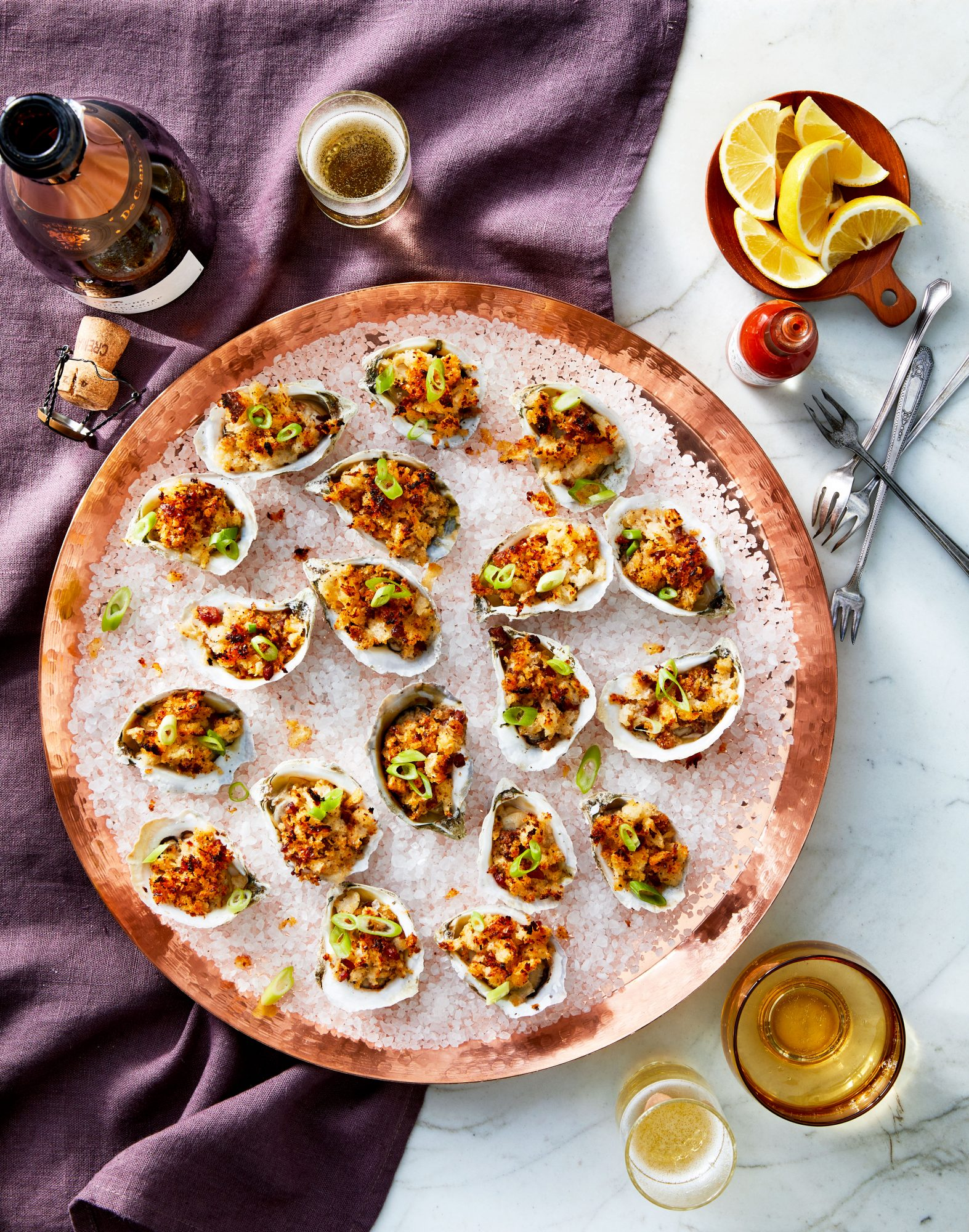 Broiled Oysters with Tasso Breadcrumbs